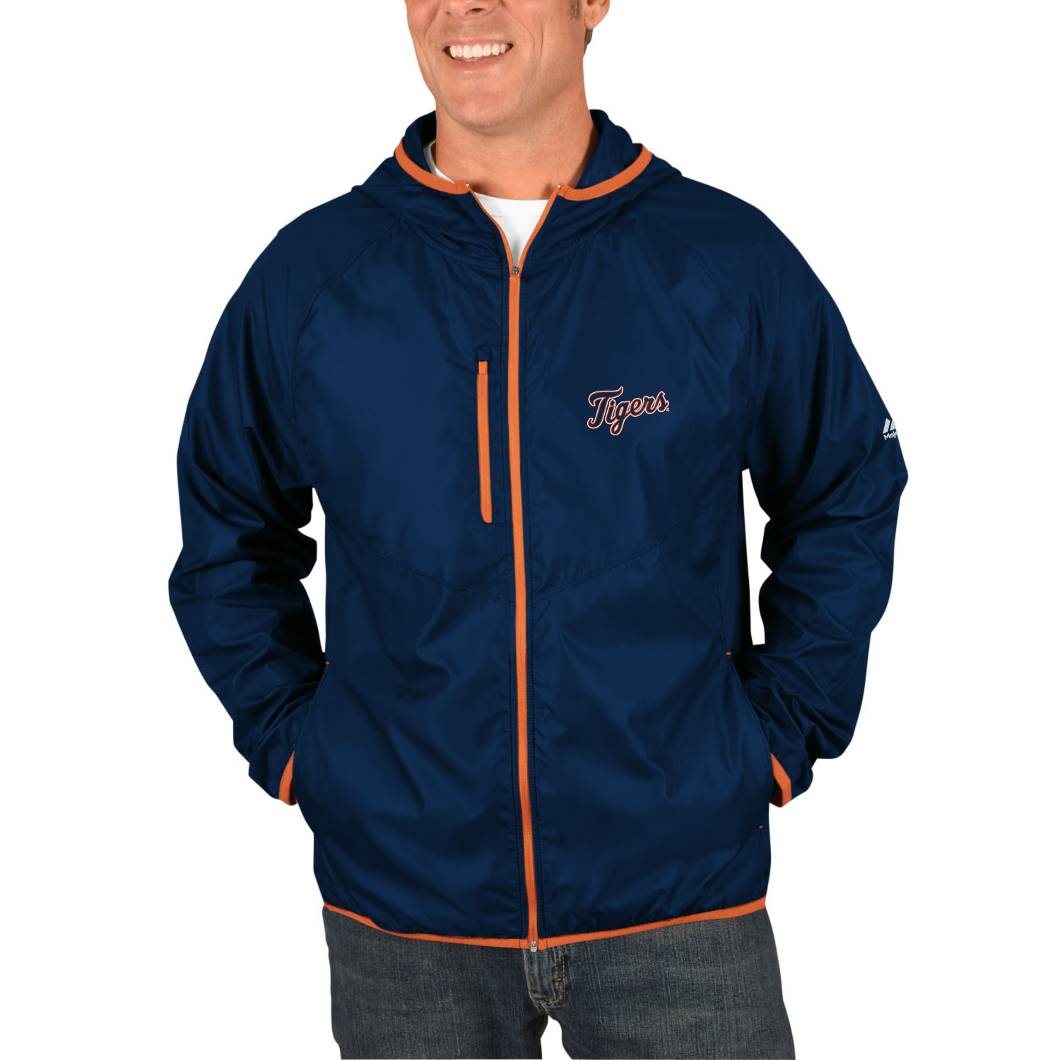 Detroit Tigers Majestic Weakness is a Choice Full-Zip Jacket - Navy