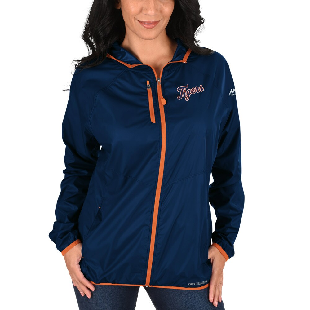 Detroit Tigers Majestic Women's Absolute Dominance Full-Zip Jacket - Navy