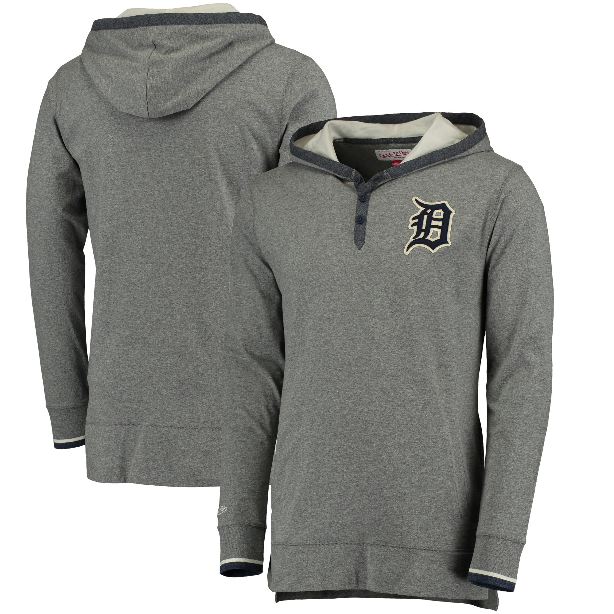 Detroit Tigers Mitchell & Ness Seal The Win Hoodie - Gray