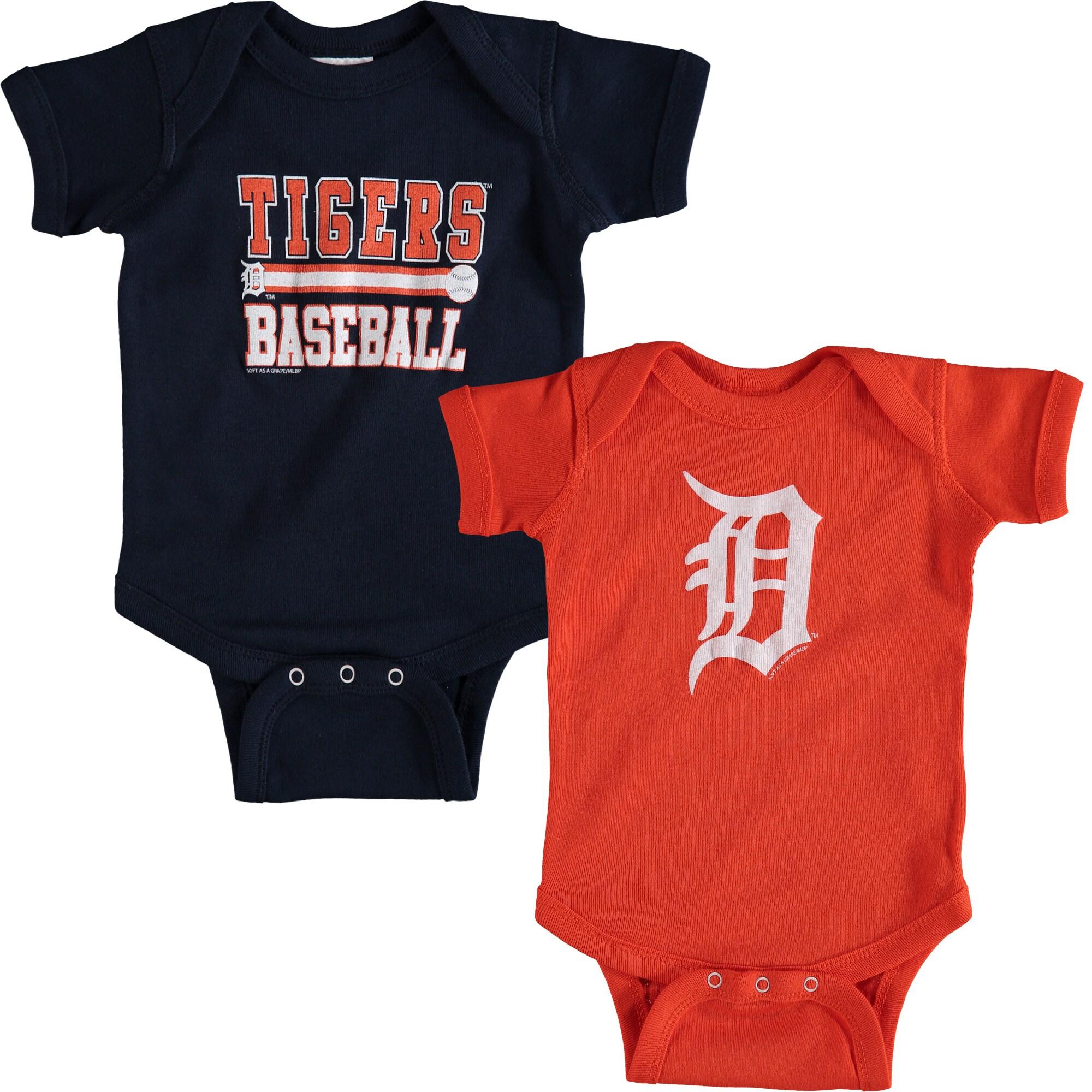 Detroit Tigers Soft as a Grape Newborn & Infant 2-Piece Body Suit - Navy/Orange