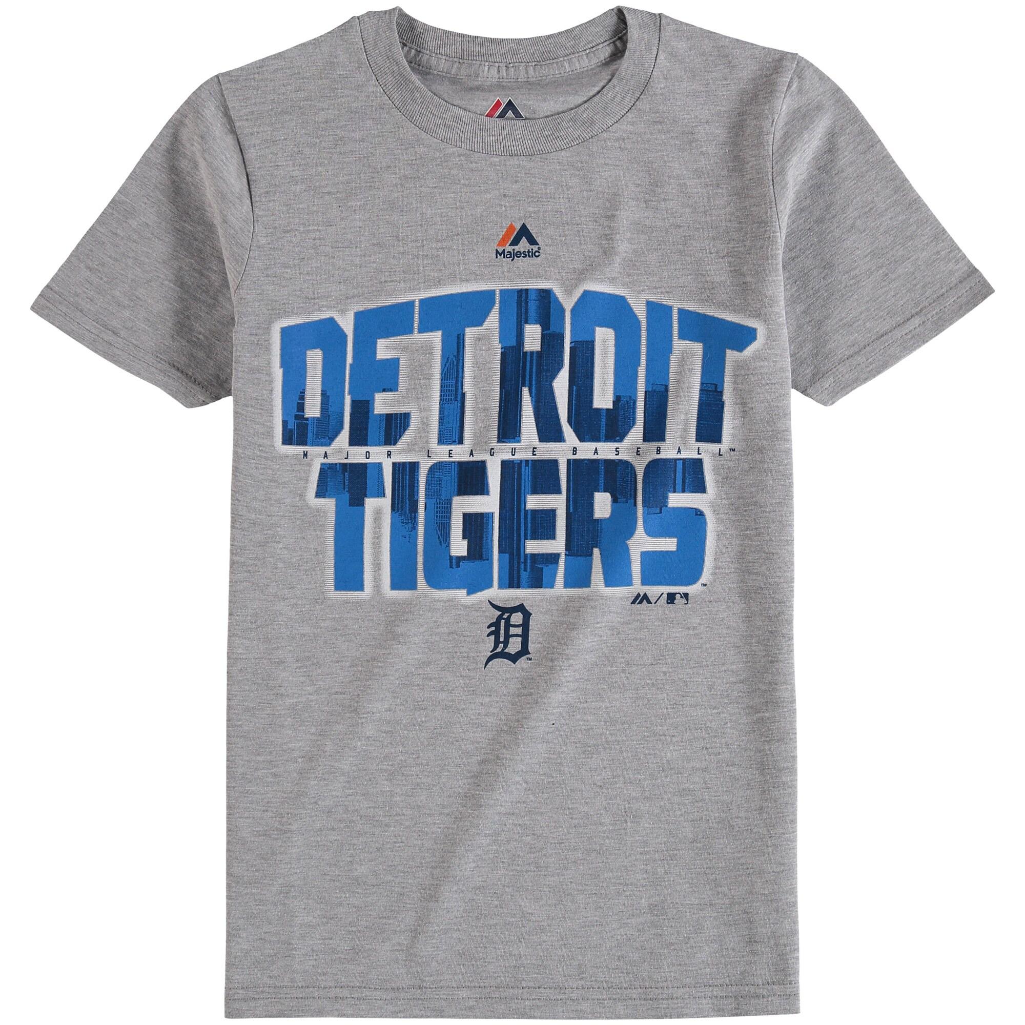 Detroit Tigers Majestic Youth Big City T-Shirt - Gray