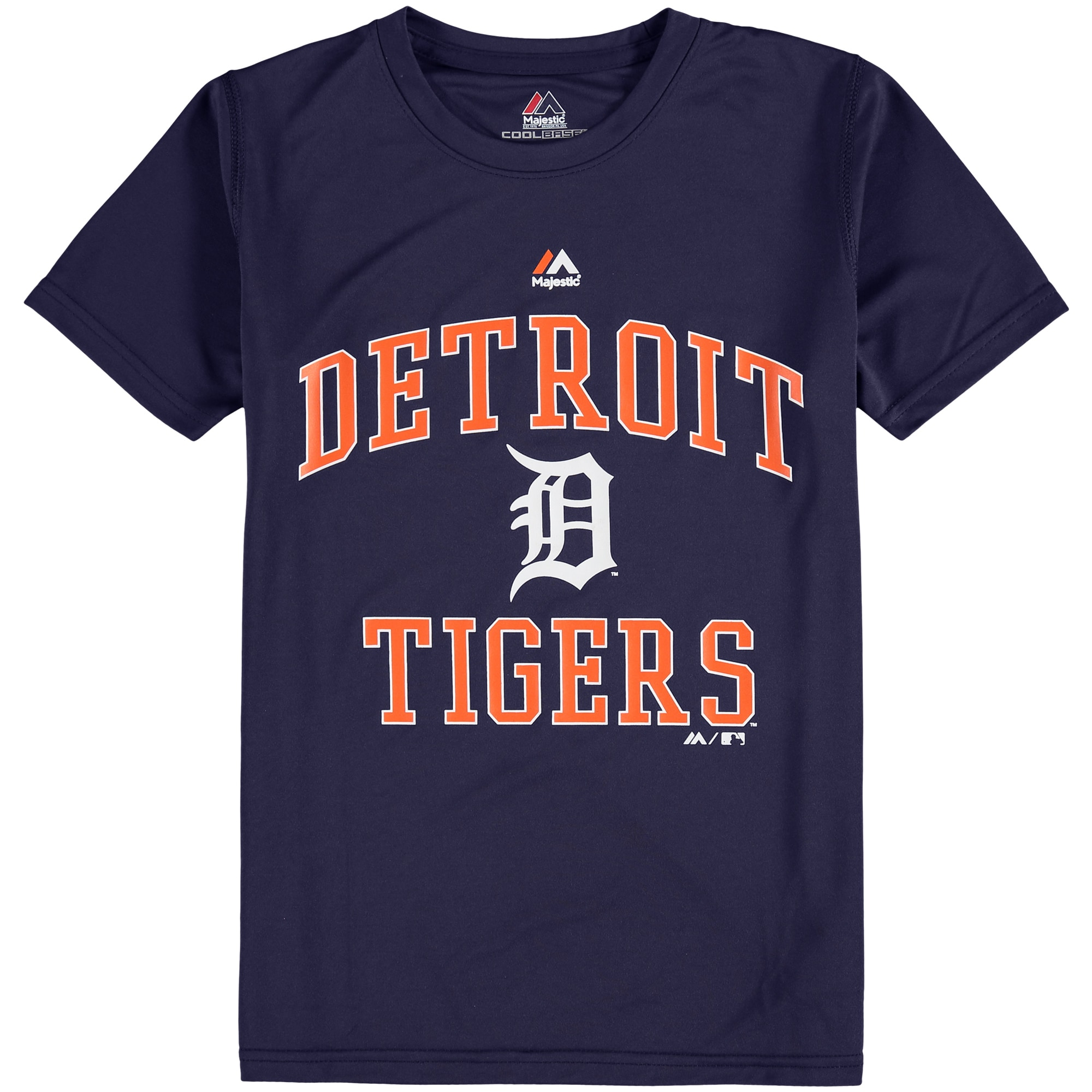 Detroit Tigers Majestic Youth City Wide Cool Base T-Shirt - Navy