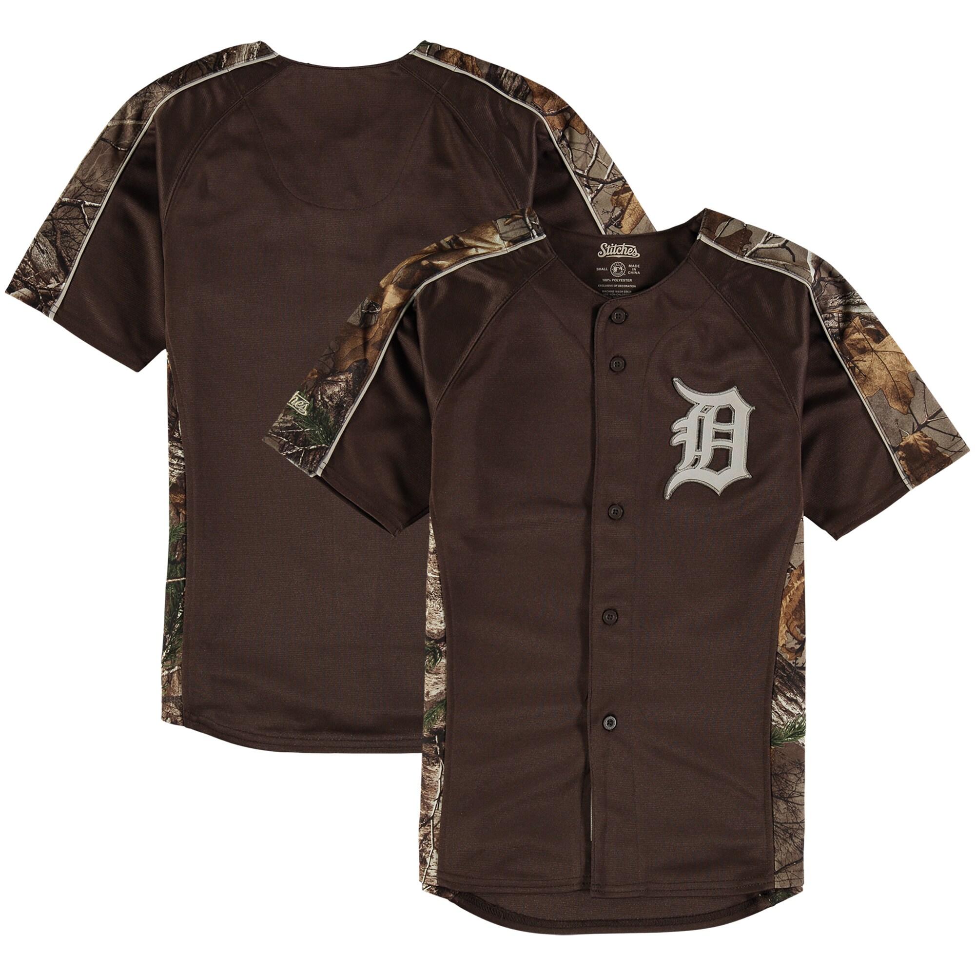 Detroit Tigers Stitches Youth Replica Jersey - Realtree Camo