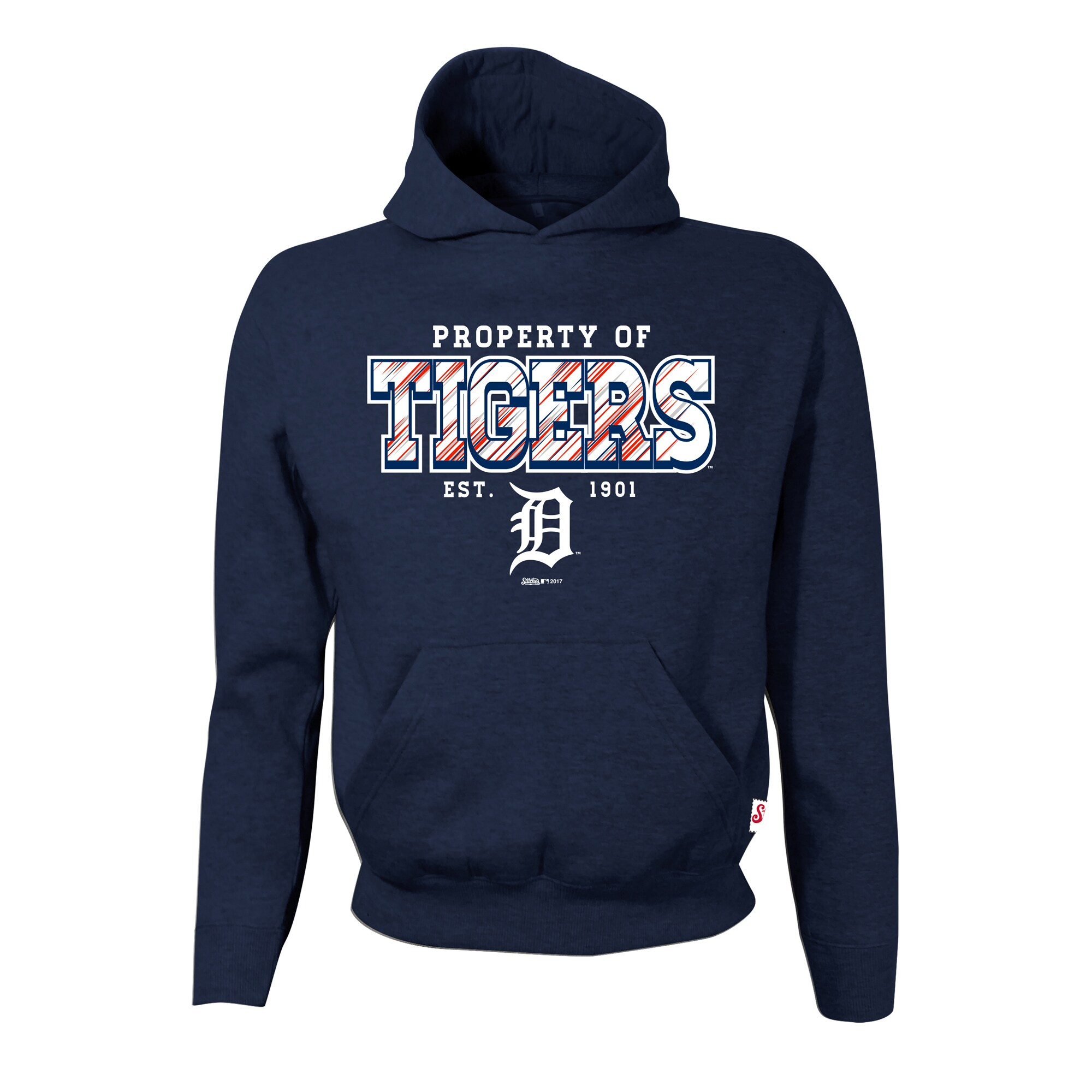 Detroit Tigers Stitches Youth Property Of Team Hoodie - Navy