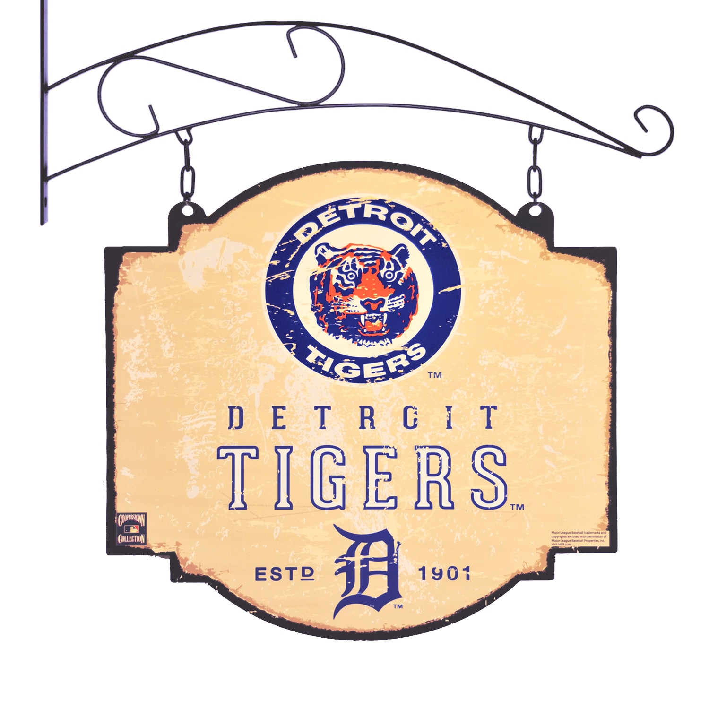 "Detroit Tigers 16"" x 16"" Tavern Sign - Cream"