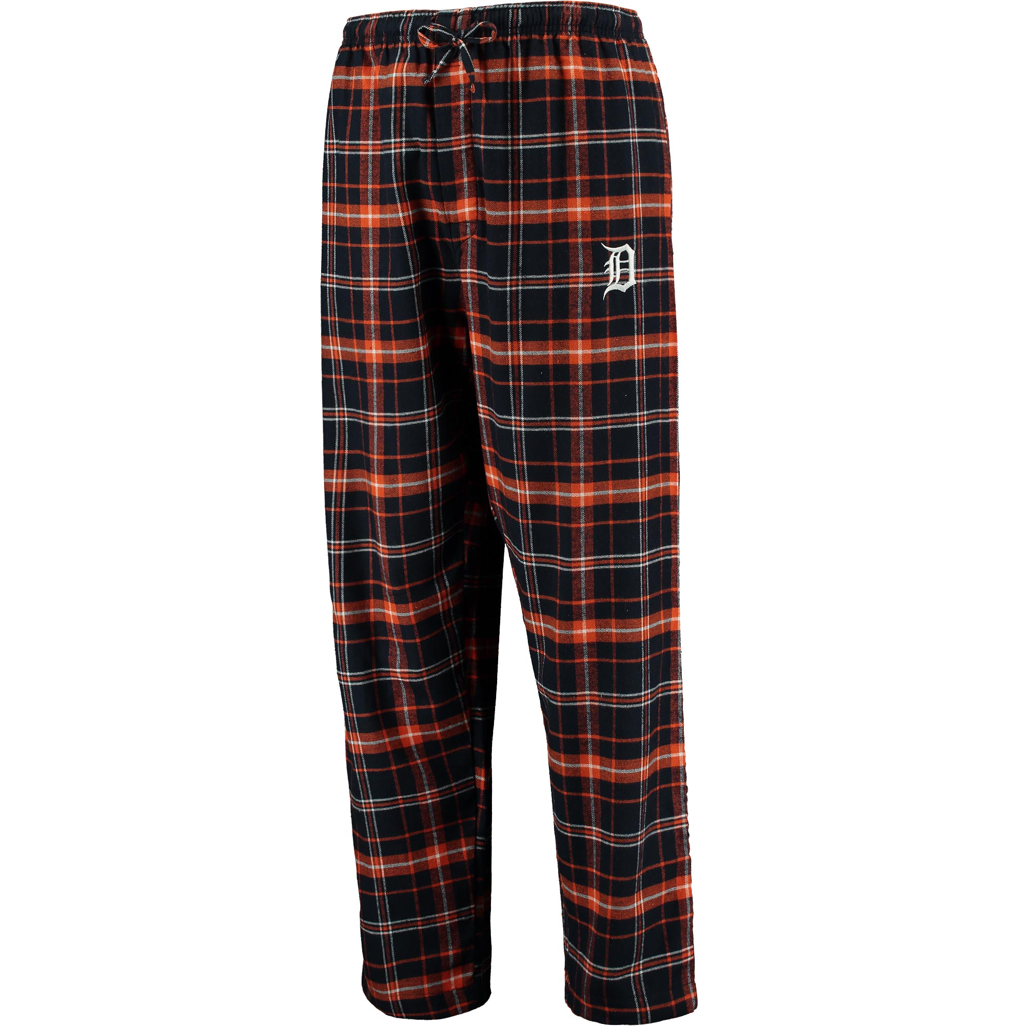 Detroit Tigers Concepts Sport Ultimate Plaid Flannel Pants - Navy/Orange