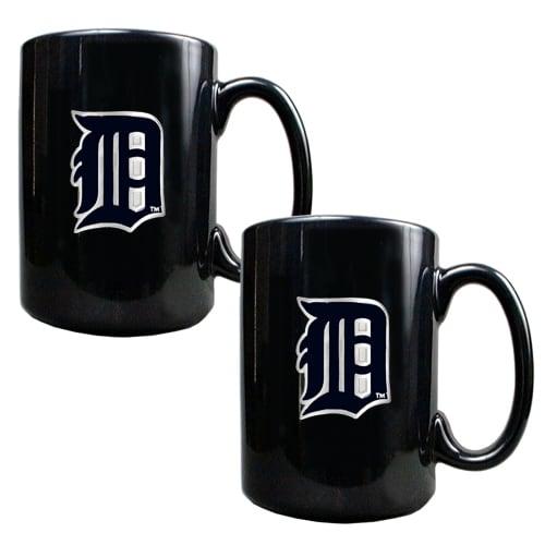 Detroit Tigers 15oz. Coffee Mug Set - Black