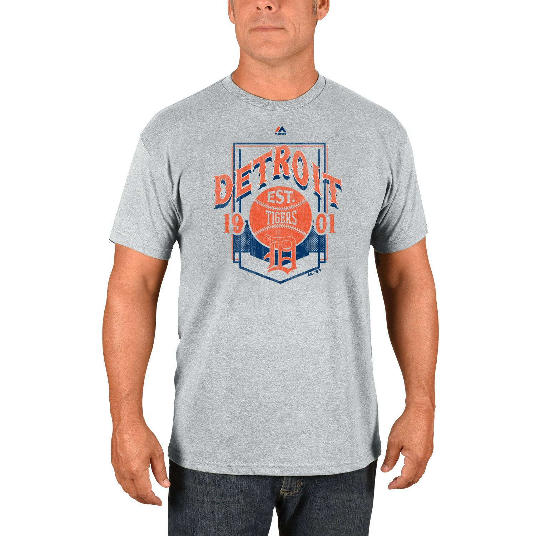 Detroit Tigers Majestic Vintage Style T-Shirt - Gray