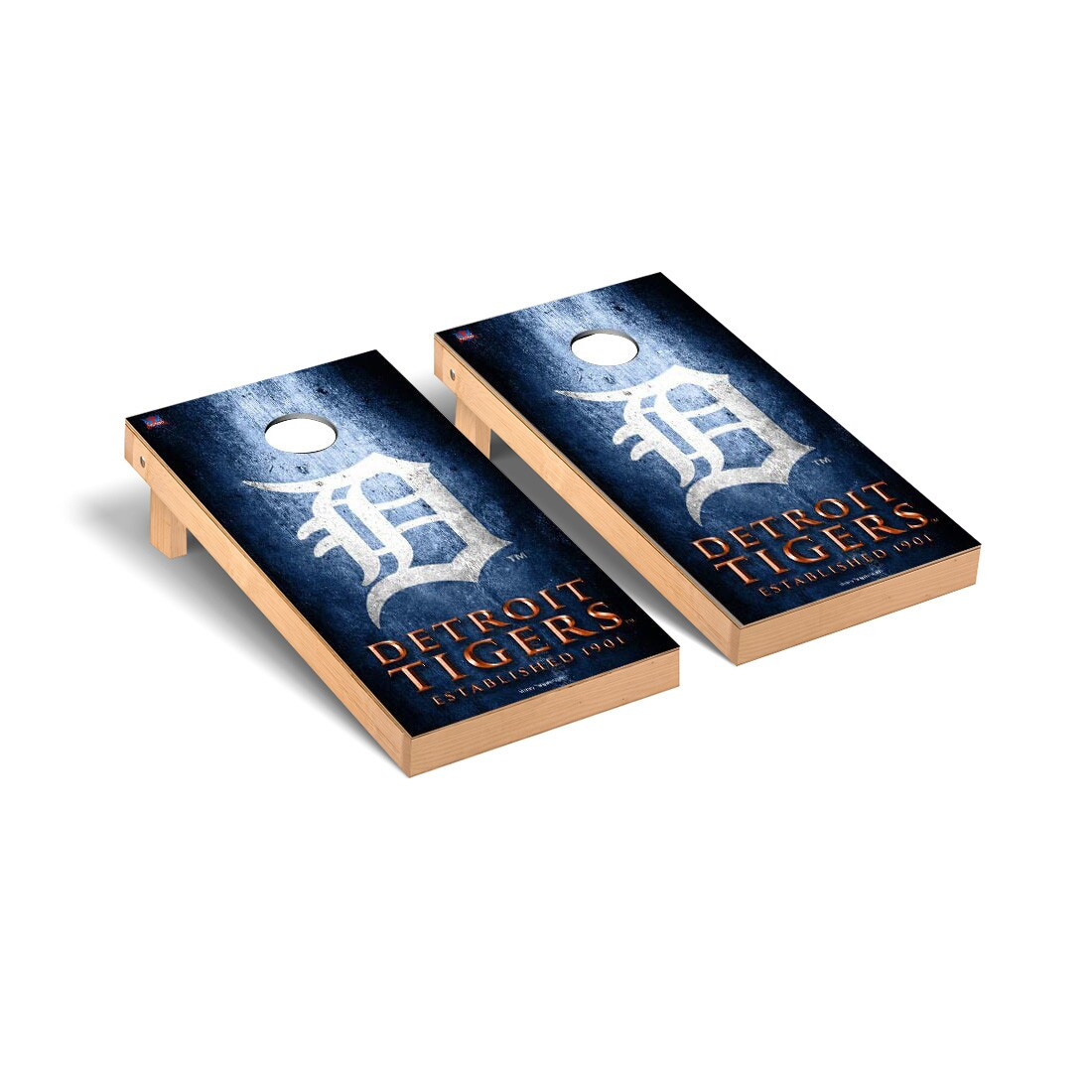 Detroit Tigers 2' x 4' Metal Cornhole Board Tailgate Toss Set