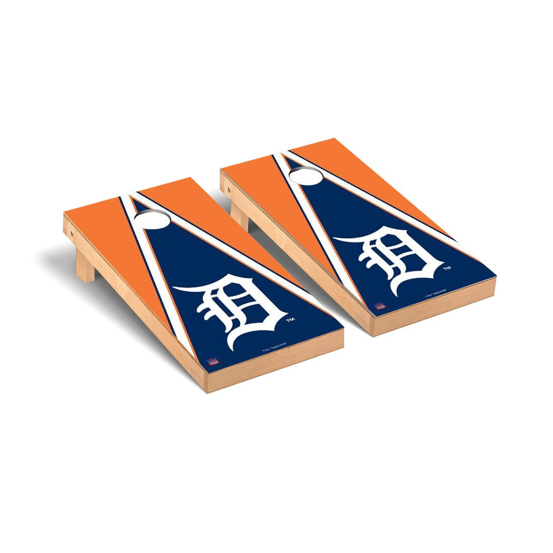 Detroit Tigers 2' x 4' Triangle Cornhole Board Tailgate Toss Set