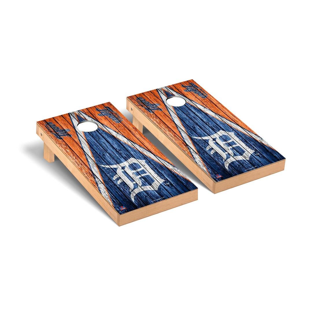 Detroit Tigers 2' x 4' Weathered Cornhole Board Tailgate Toss Set