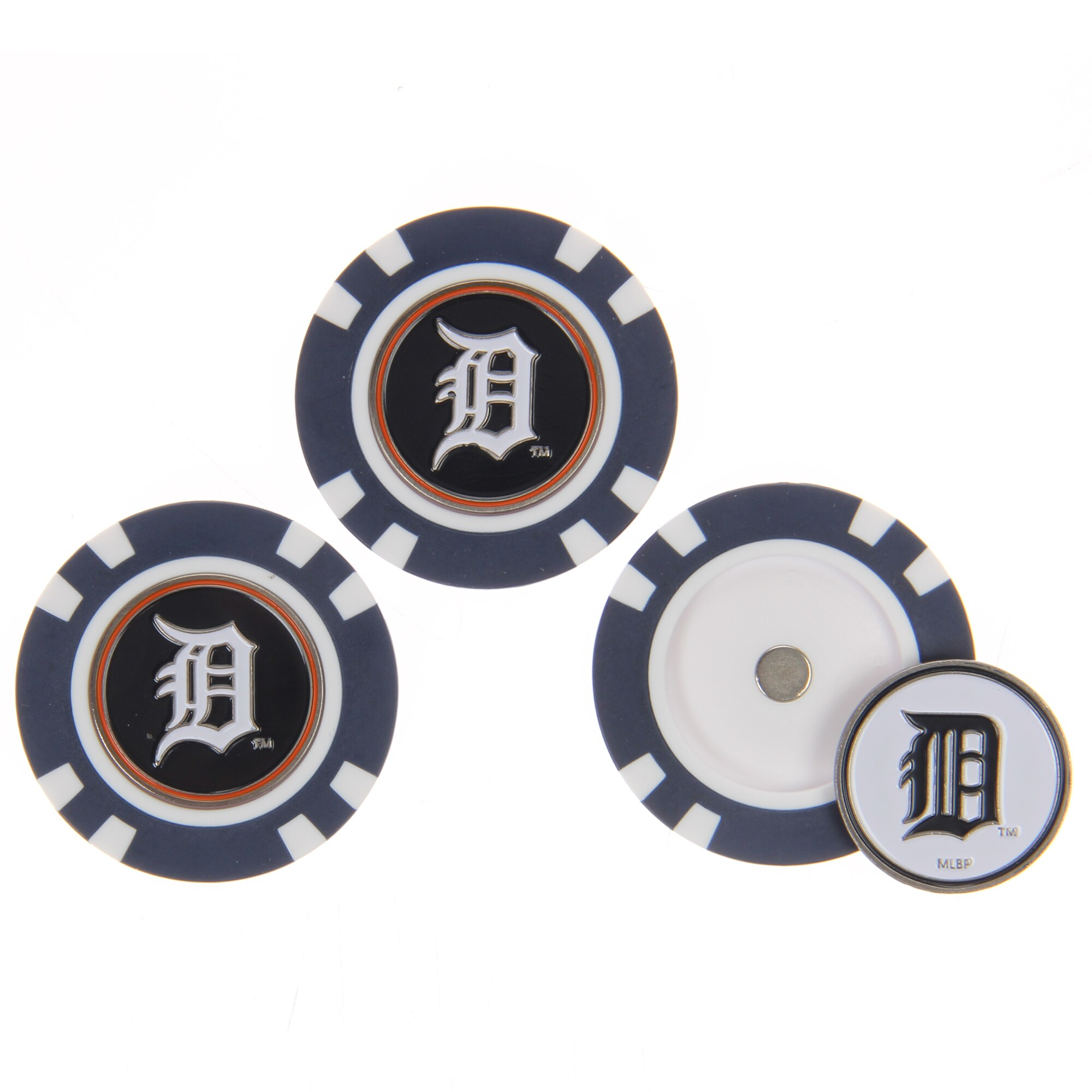 Detroit Tigers 3-Pack Poker Chip Golf Ball Markers