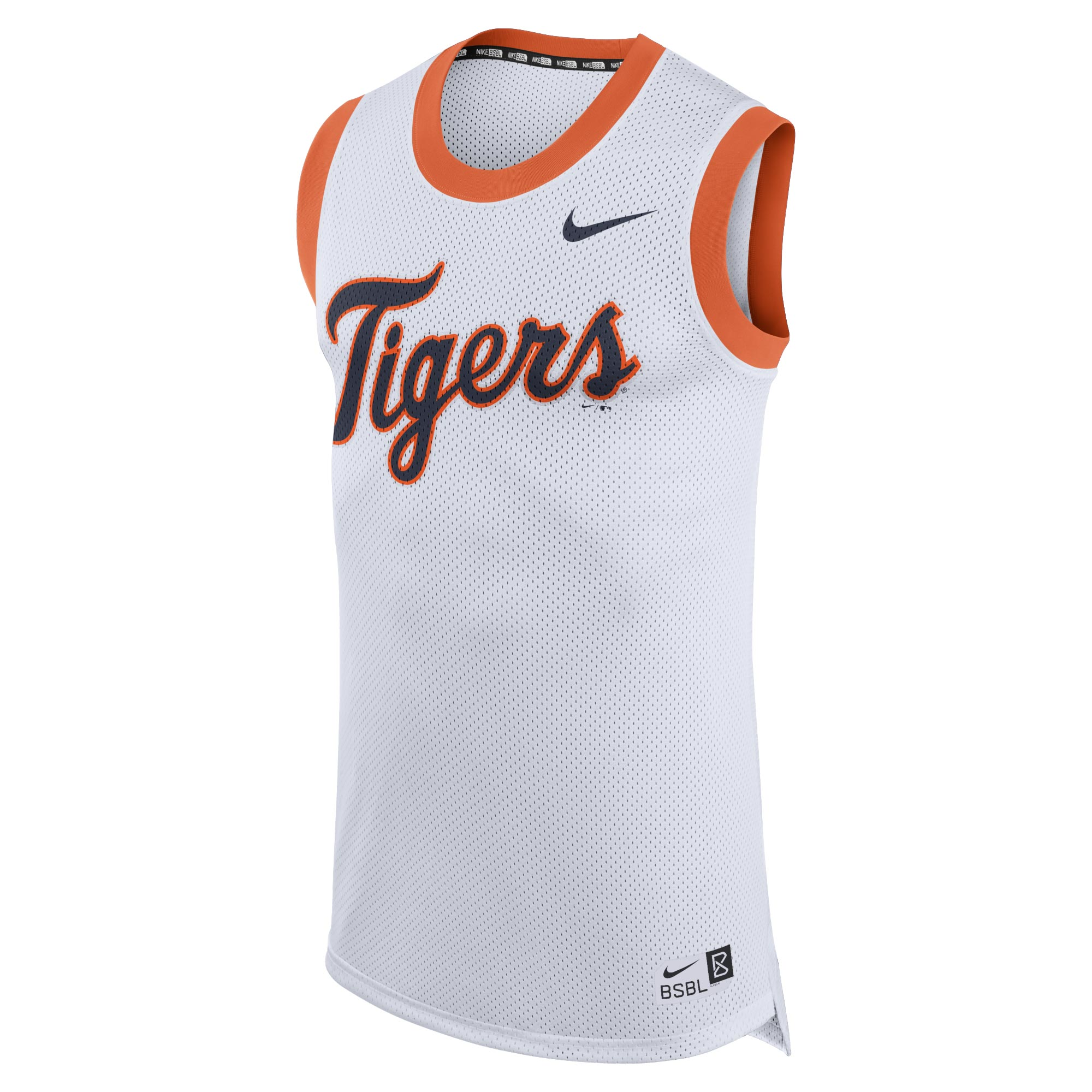 Detroit Tigers Nike Bro Tank Top - White