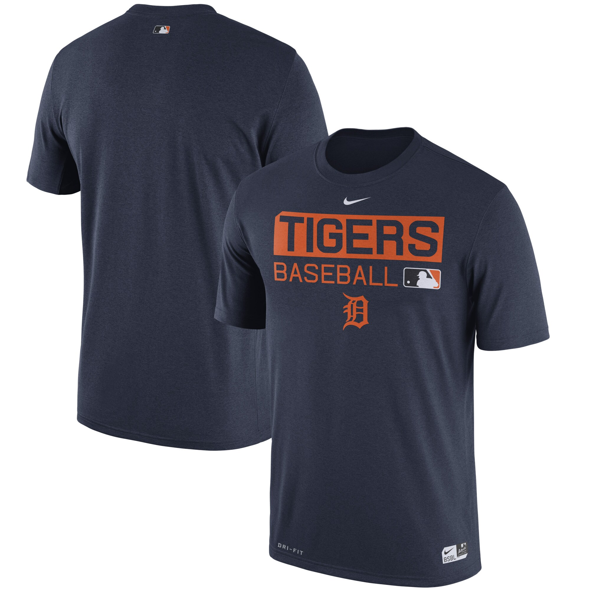 Detroit Tigers Nike Authentic Collection Legend Team Issue Performance T-Shirt - Navy -