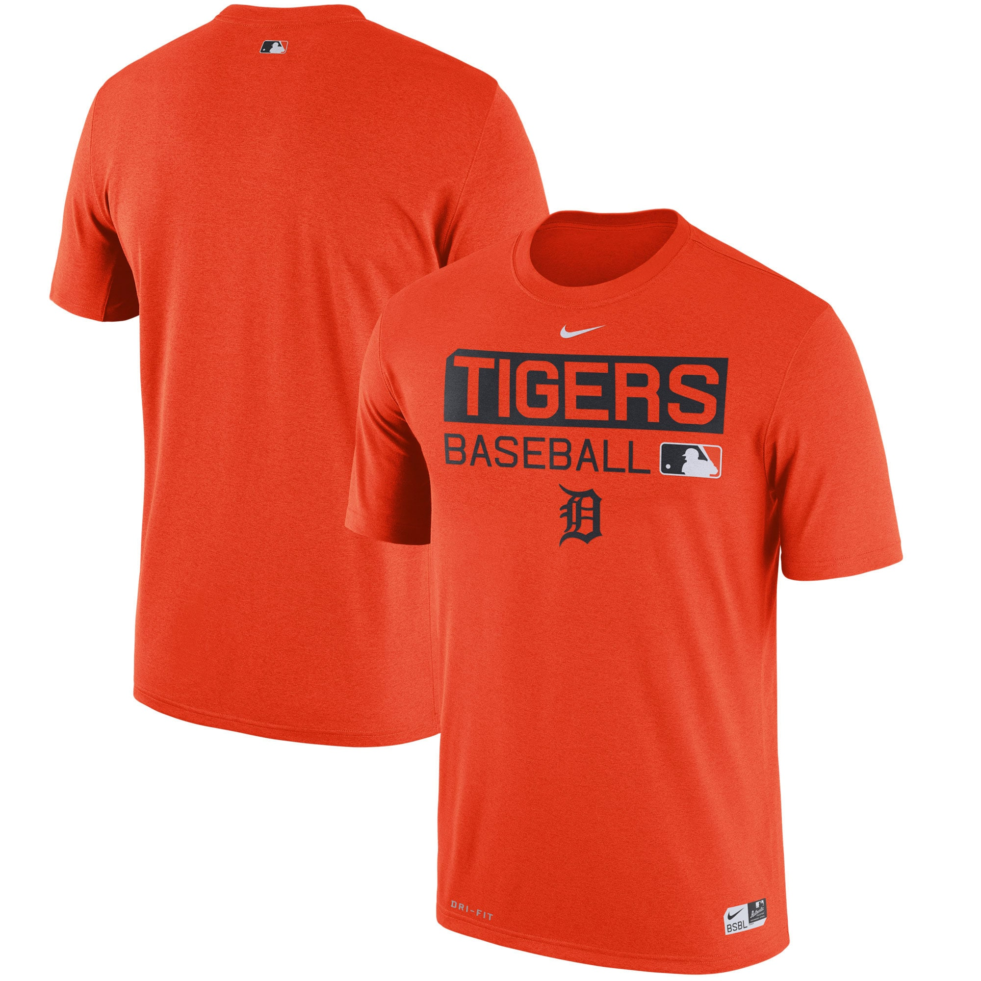 Detroit Tigers Nike Authentic Collection Legend Team Issue Performance T-Shirt - Orange -