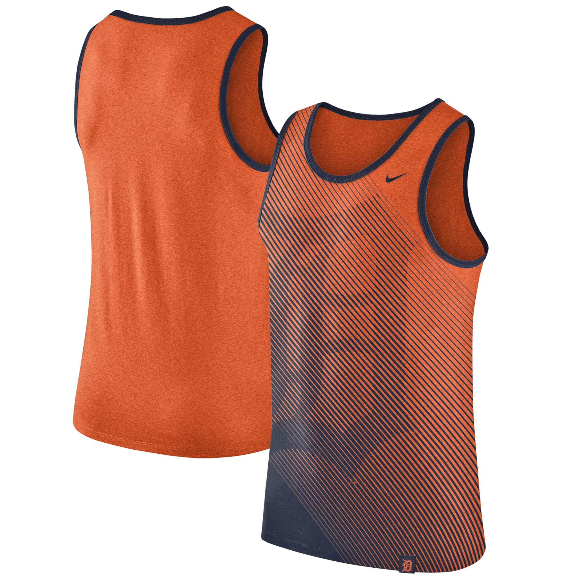 Detroit Tigers Nike 1.7 Tri-Blend Tank Top - Heathered Orange