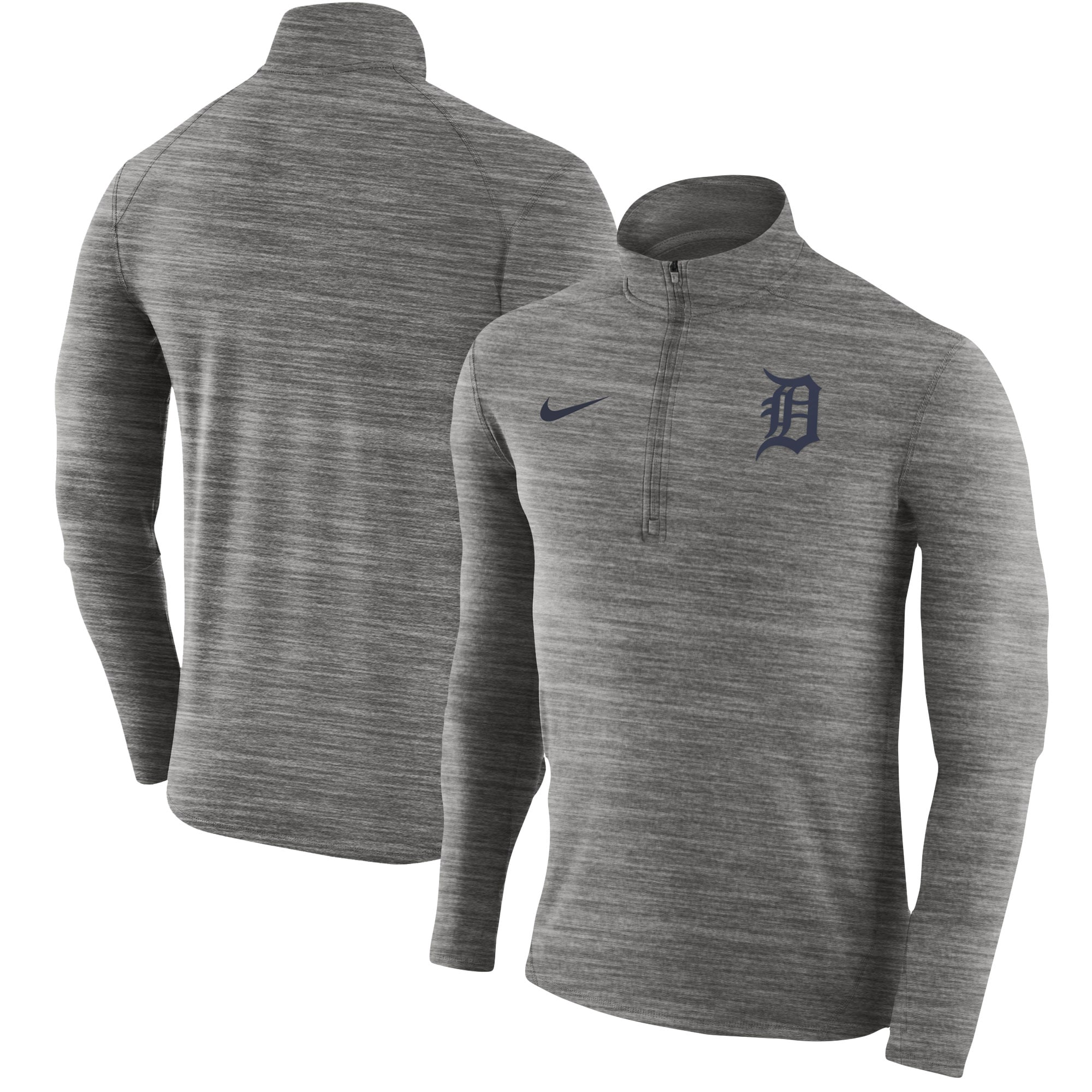 Detroit Tigers Nike Element Half-Zip Performance Top - Heathered Gray