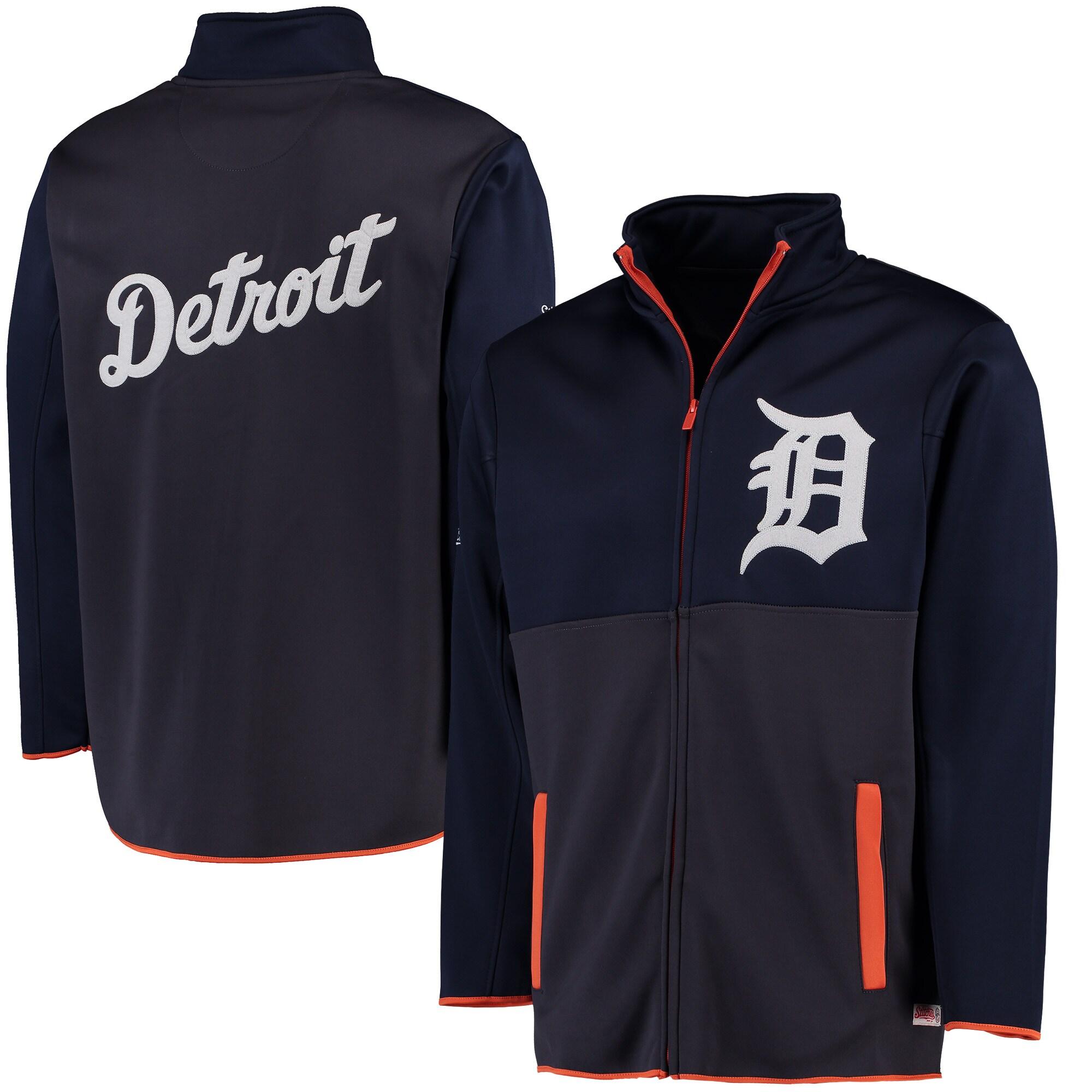 Detroit Tigers Stitches Fashion Track Jacket - Navy