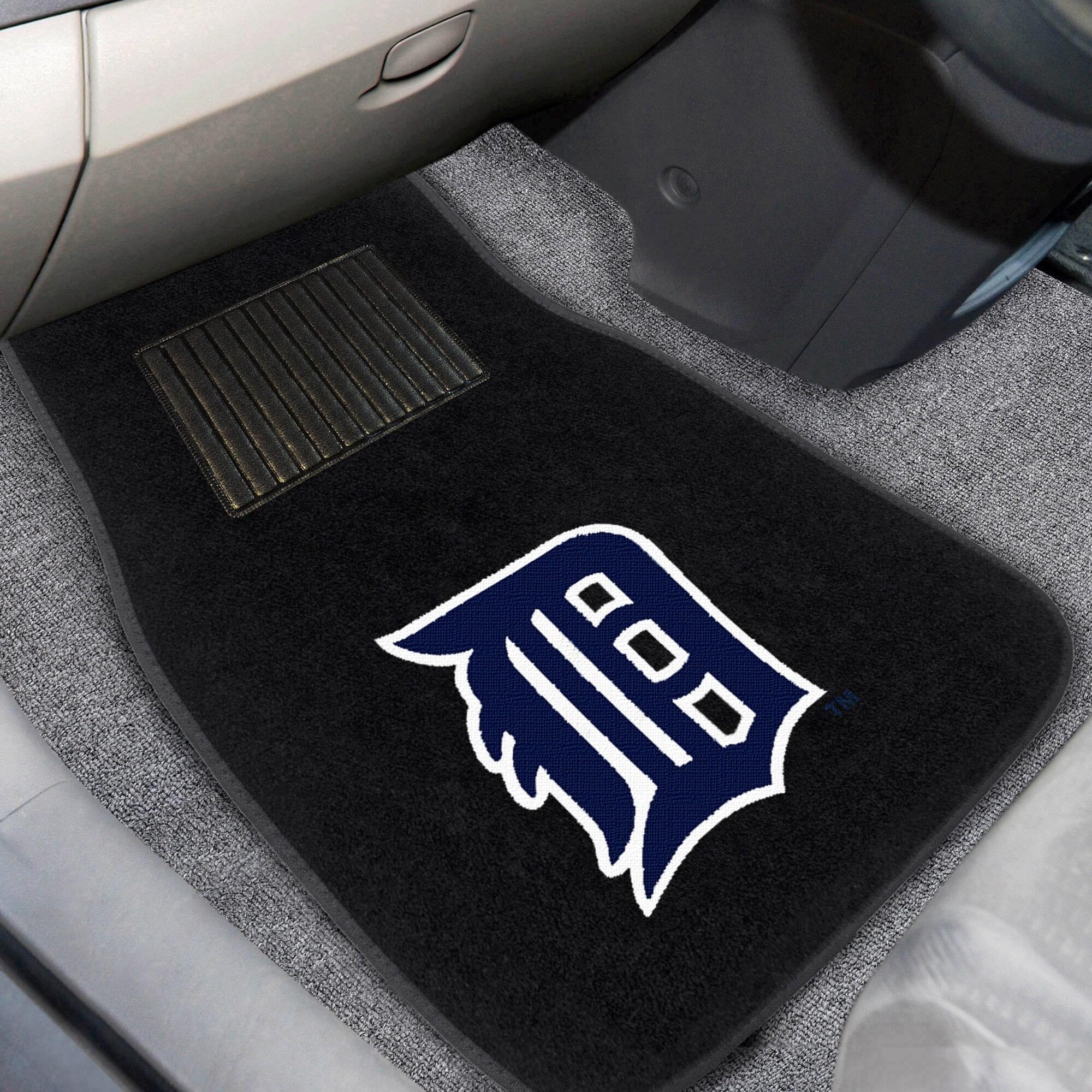 Detroit Tigers 2-Piece Embroidered Car Mat Set