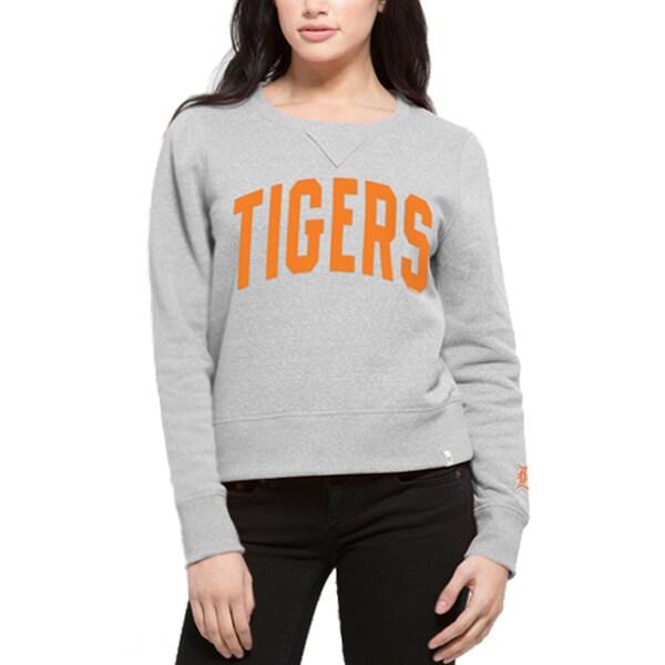 Detroit Tigers '47 Women's Splash Crew Neck Sweatshirt - Gray