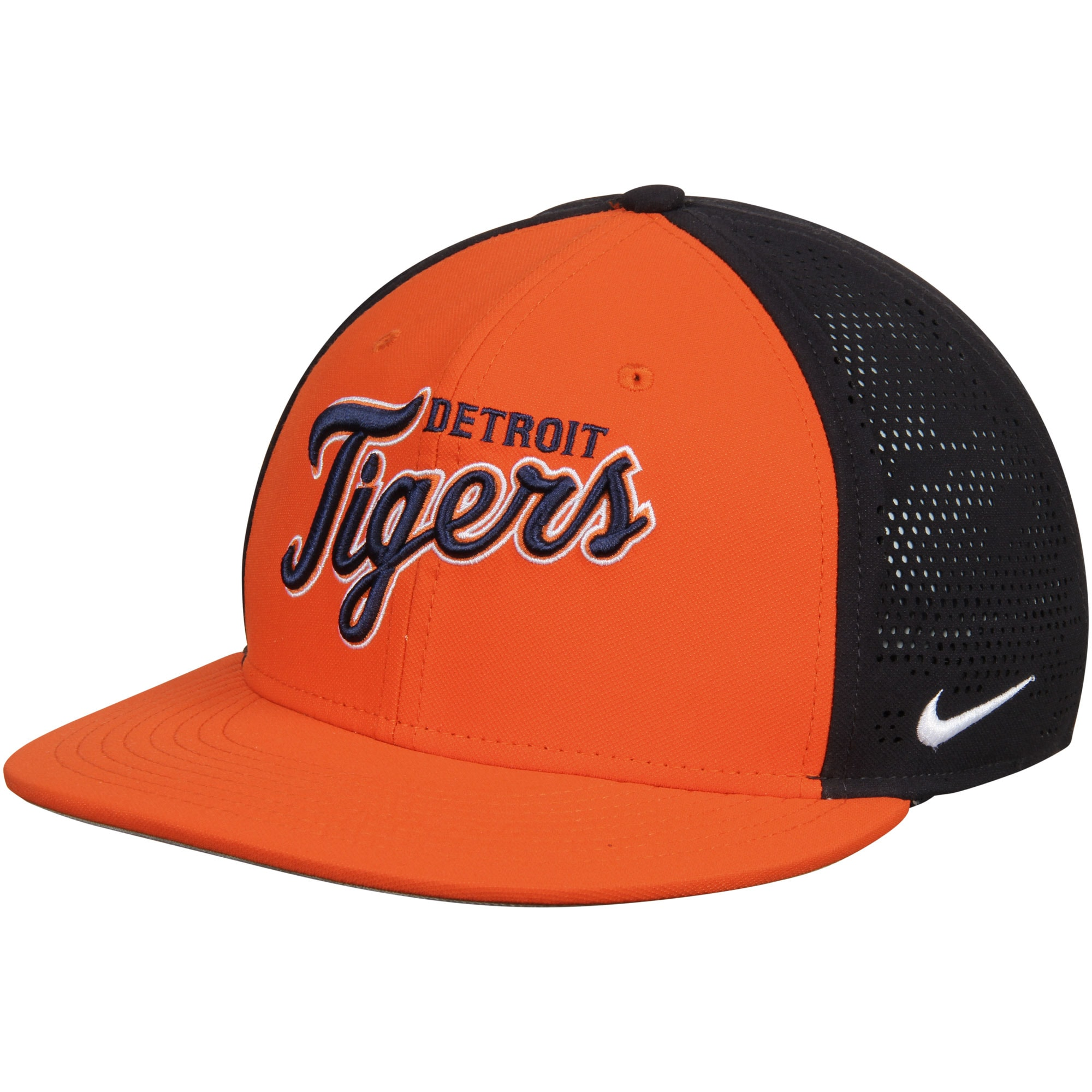 Detroit Tigers Nike True Vapor Swoosh Performance Flex Hat - Orange/Navy