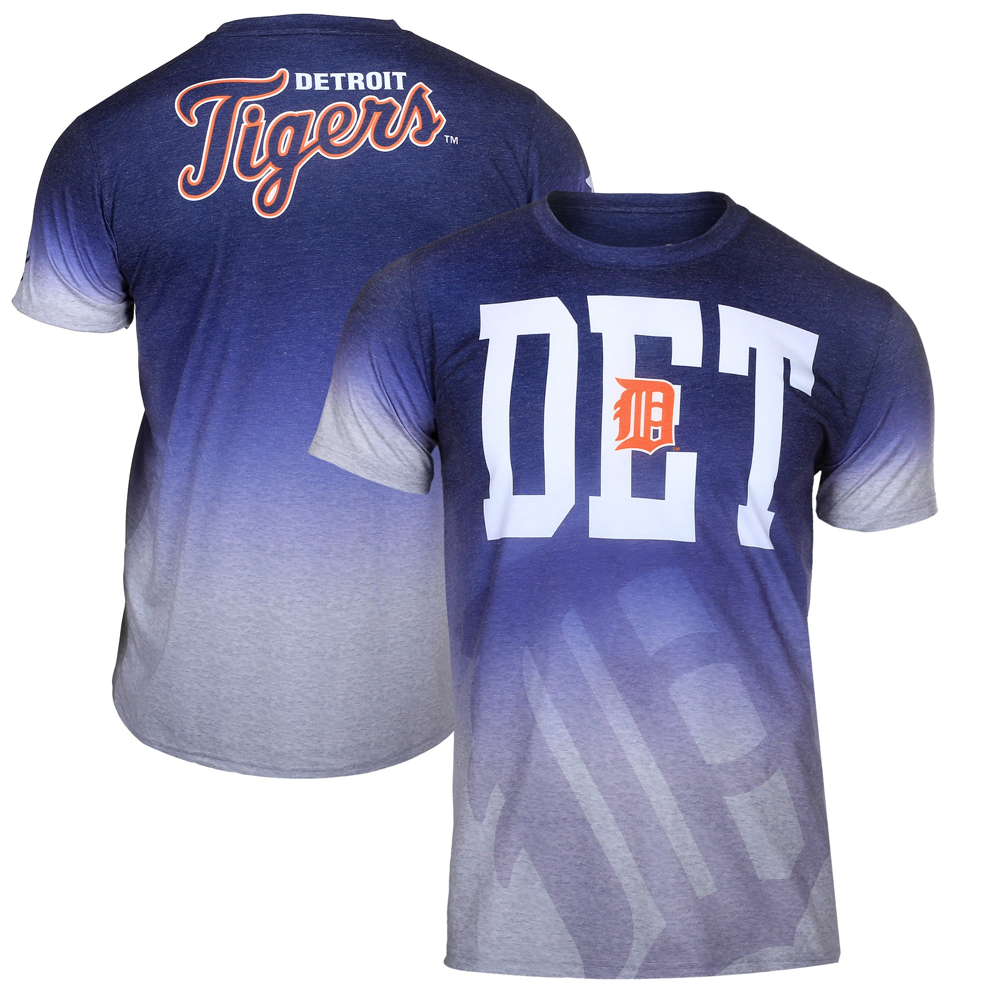 Detroit Tigers Klew Gradient Sublimated T-Shirt - Gray