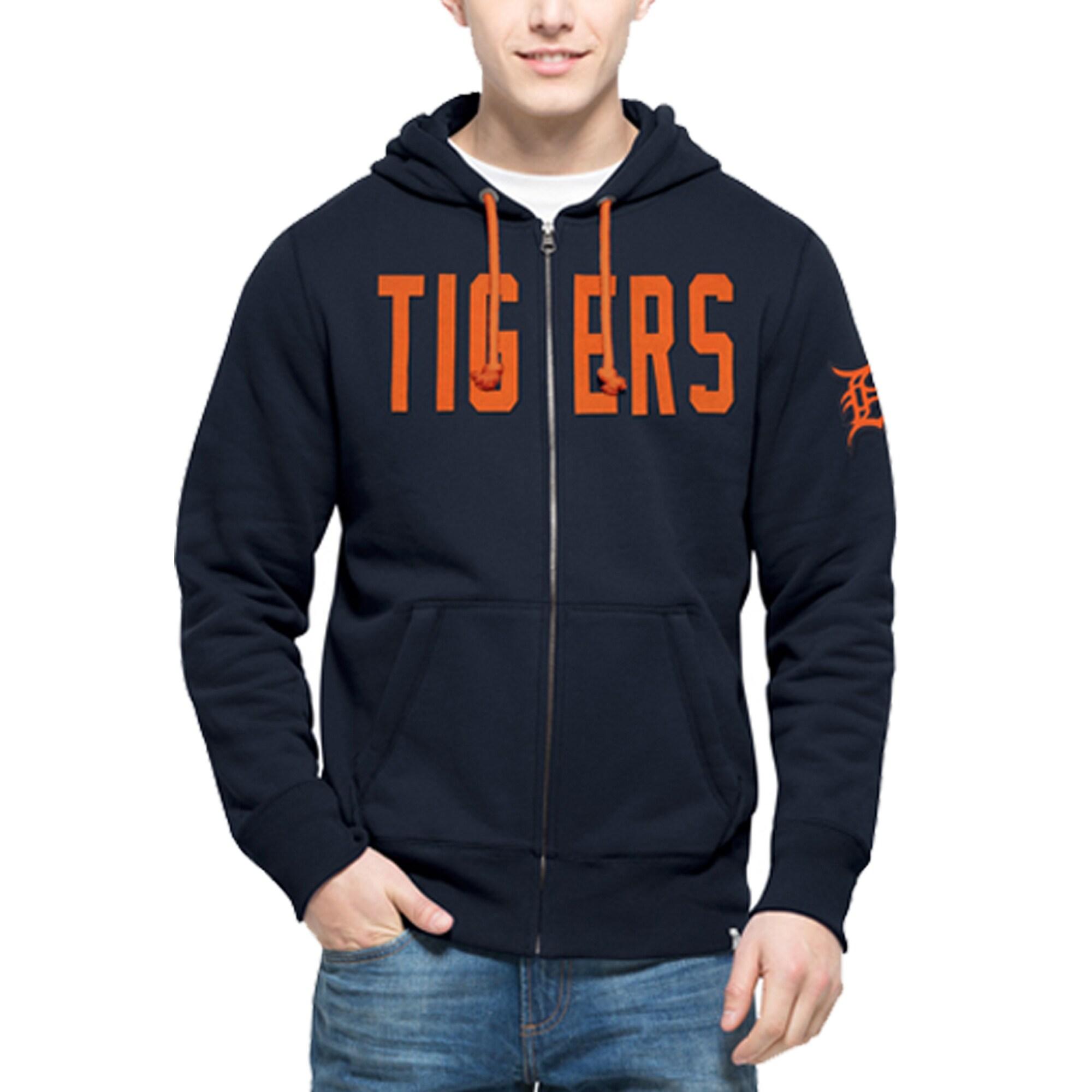 Detroit Tigers '47 Cross Check Full-Zip Hoodie - Navy