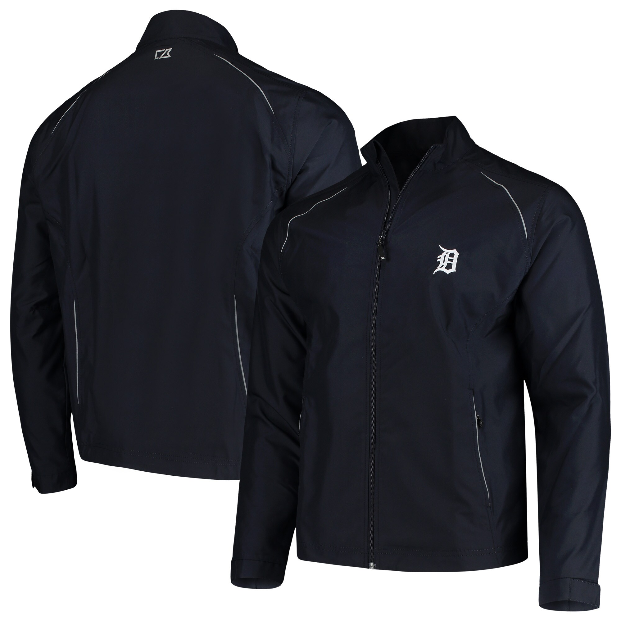 Detroit Tigers Cutter & Buck Beacon WeatherTec Full-Zip Jacket - Navy
