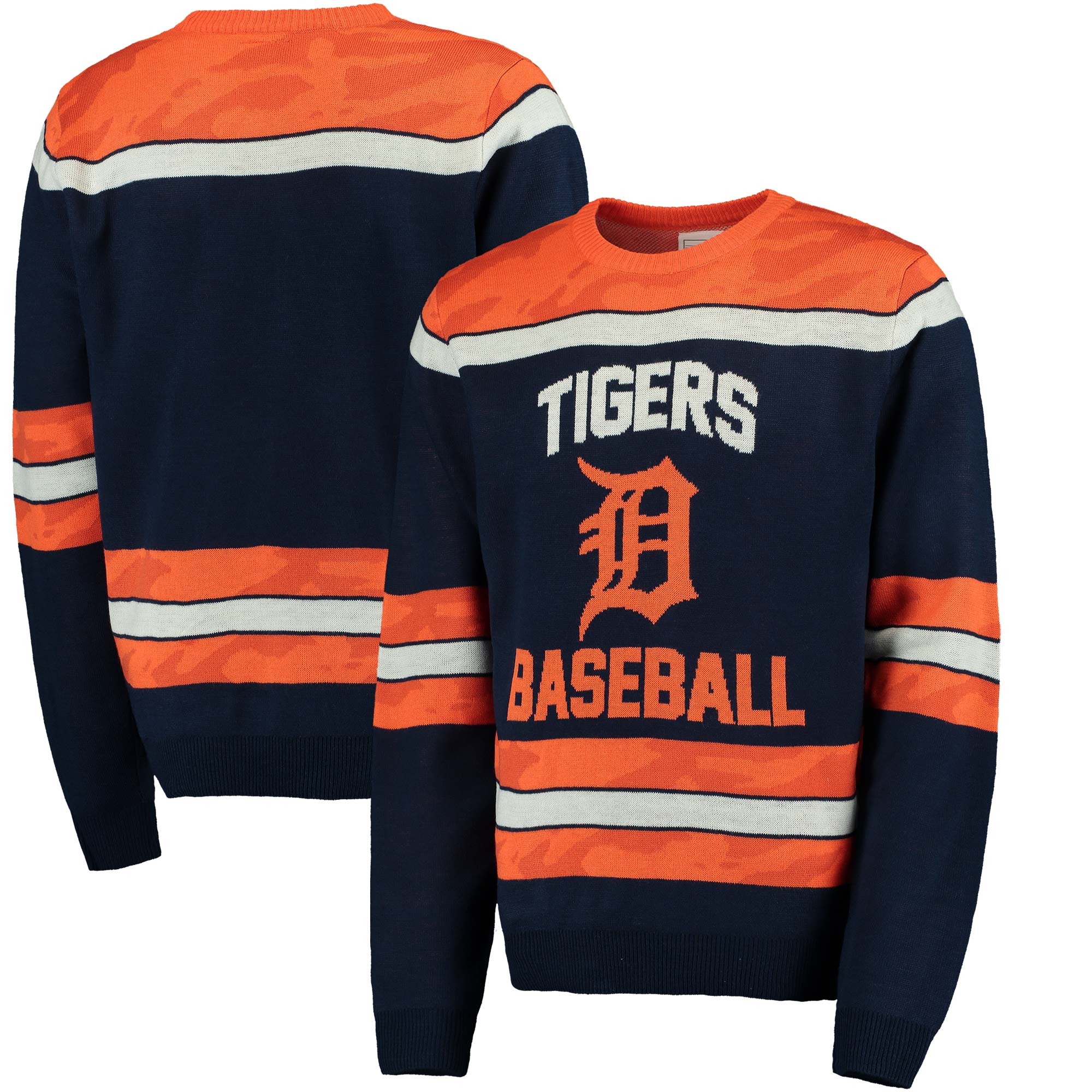 Detroit Tigers Camouflage Team Sweater - Navy