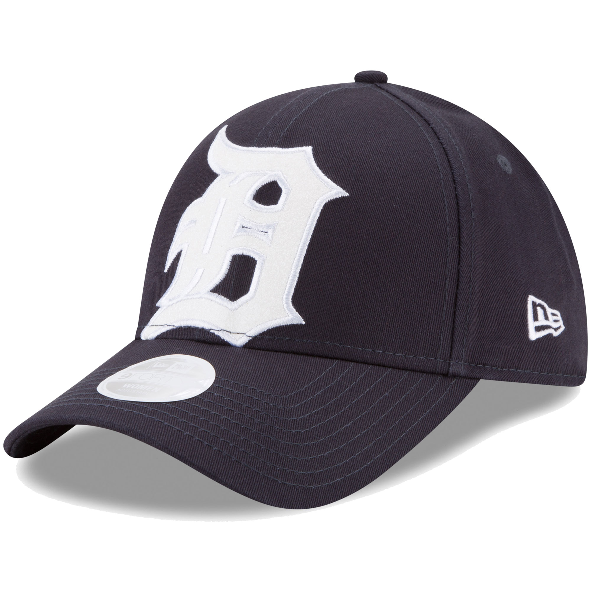 Detroit Tigers New Era Women's Glitter Glam Team 9FORTY Adjustable Hat - Navy