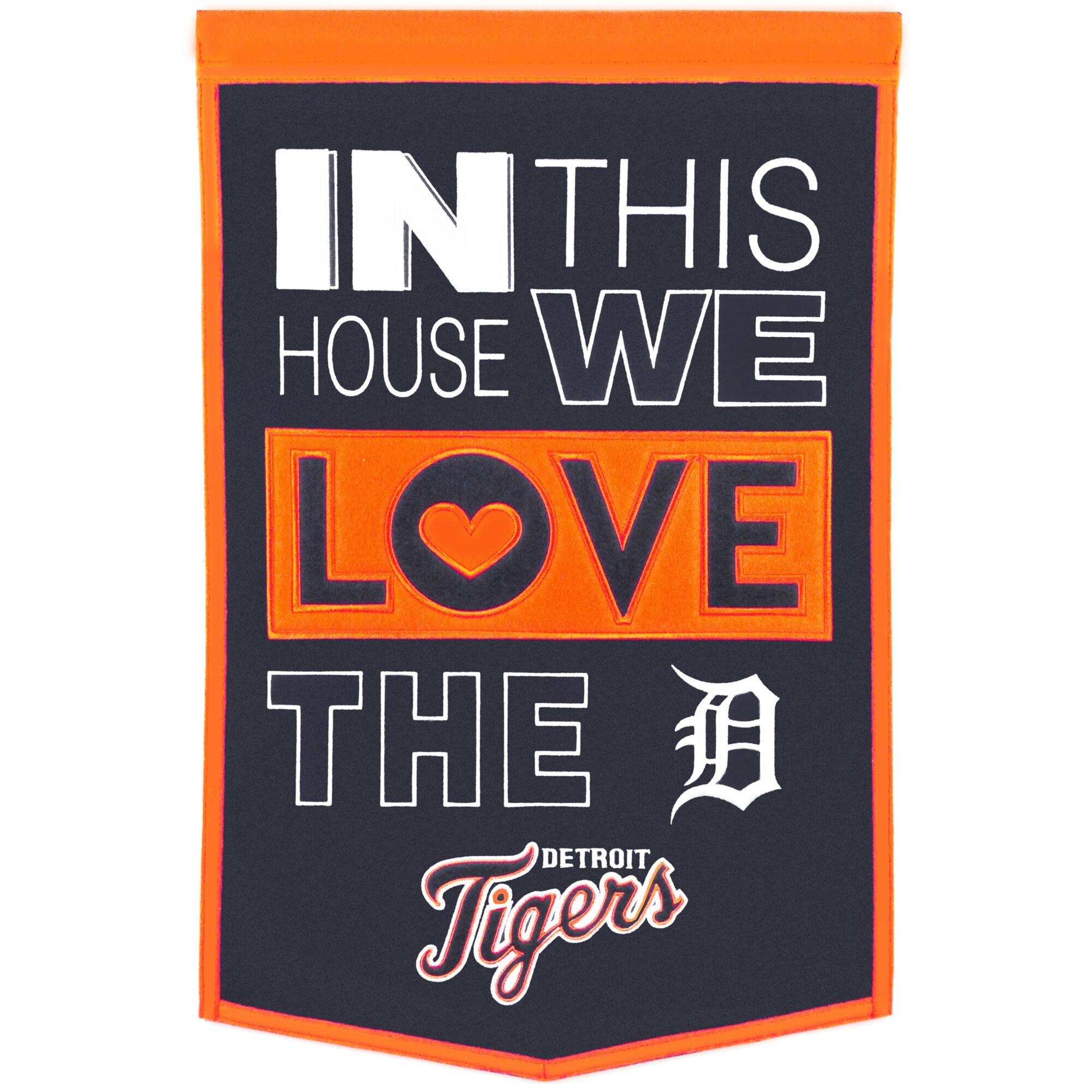Detroit Tigers 15'' x 24'' Home Banner - Navy/Orange