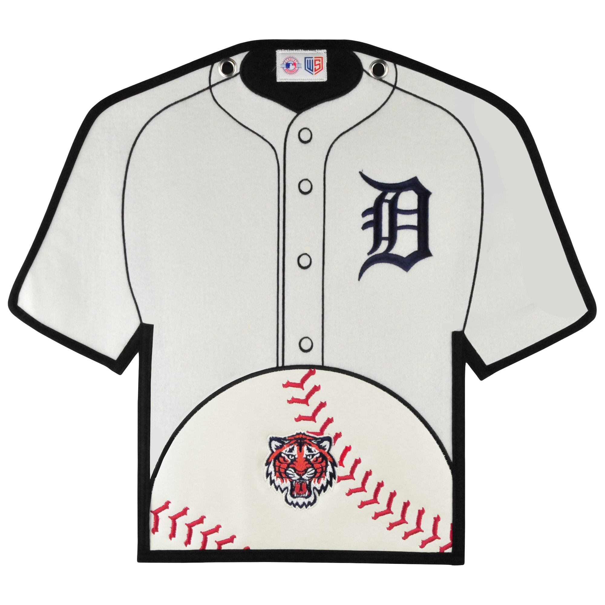 Detroit Tigers 14'' x 22'' Jersey Traditions Banner - White/Navy