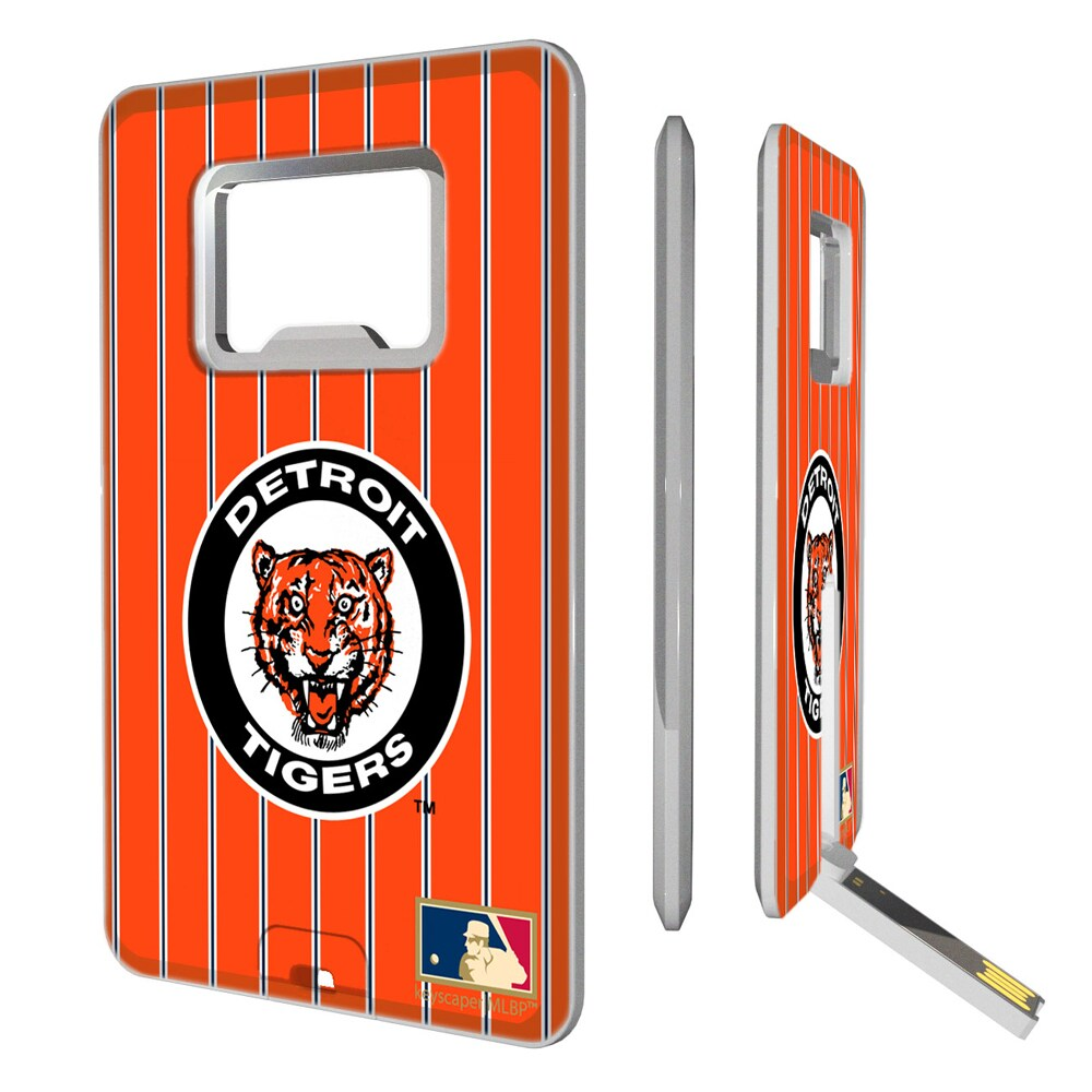 Detroit Tigers 1961-1963 Cooperstown Pinstripe Credit Card USB Drive & Bottle Opener