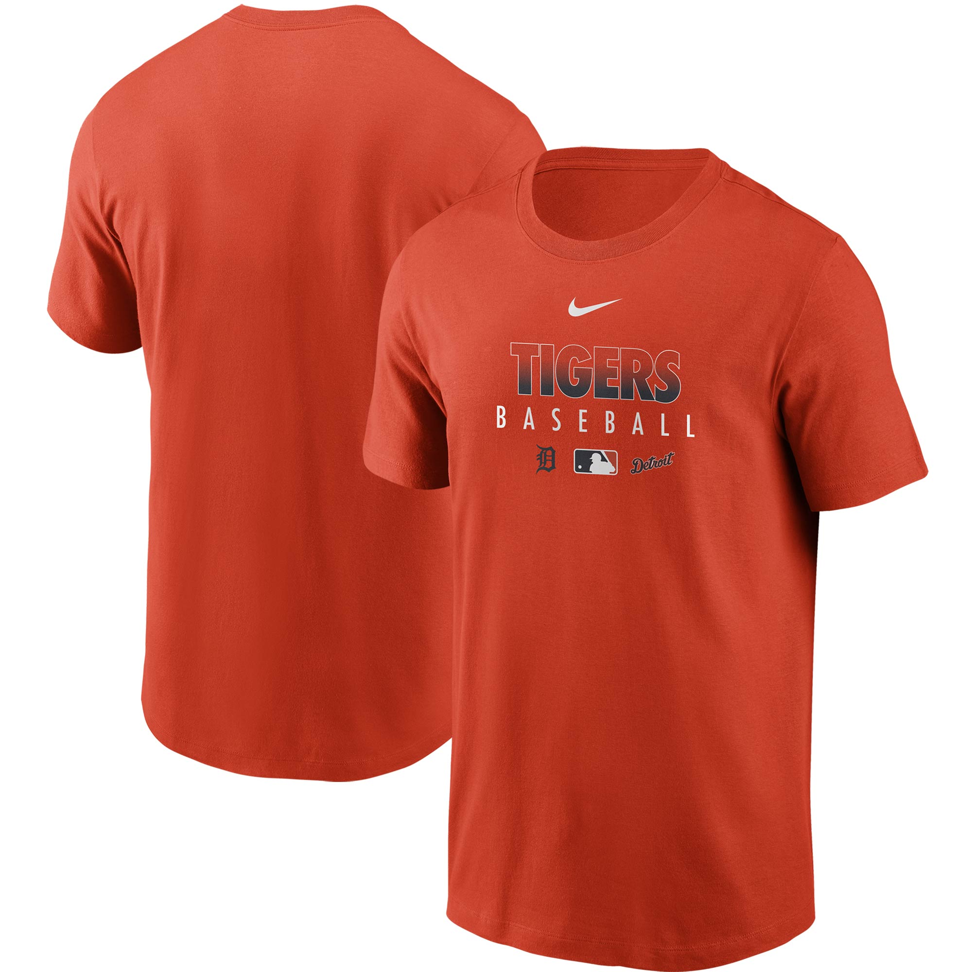 Detroit Tigers Nike Authentic Collection Team Performance T-Shirt - Orange