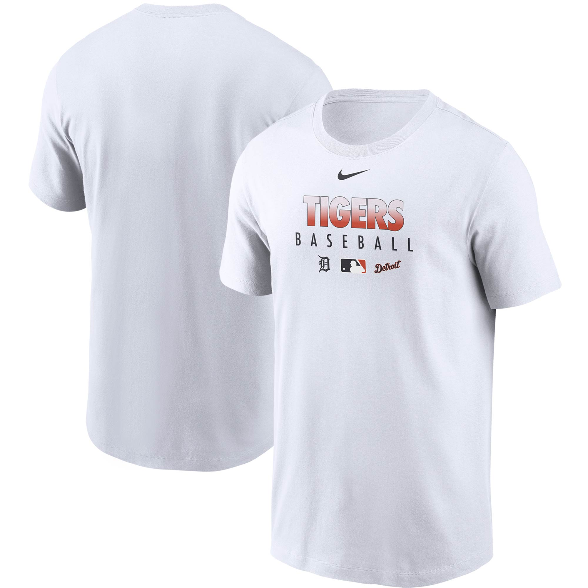Detroit Tigers Nike Authentic Collection Team Performance T-Shirt - White