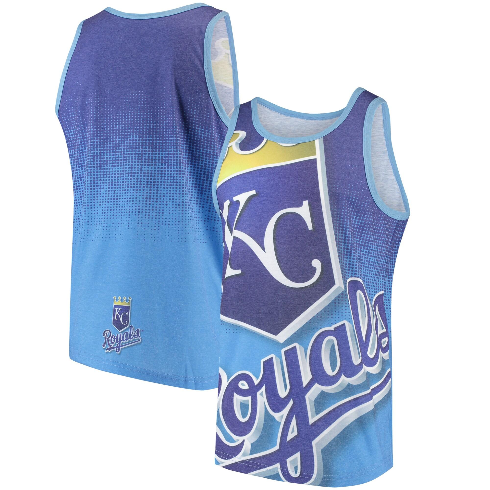 Kansas City Royals Gradient Big Logo Tank Top - Light Blue/Royal