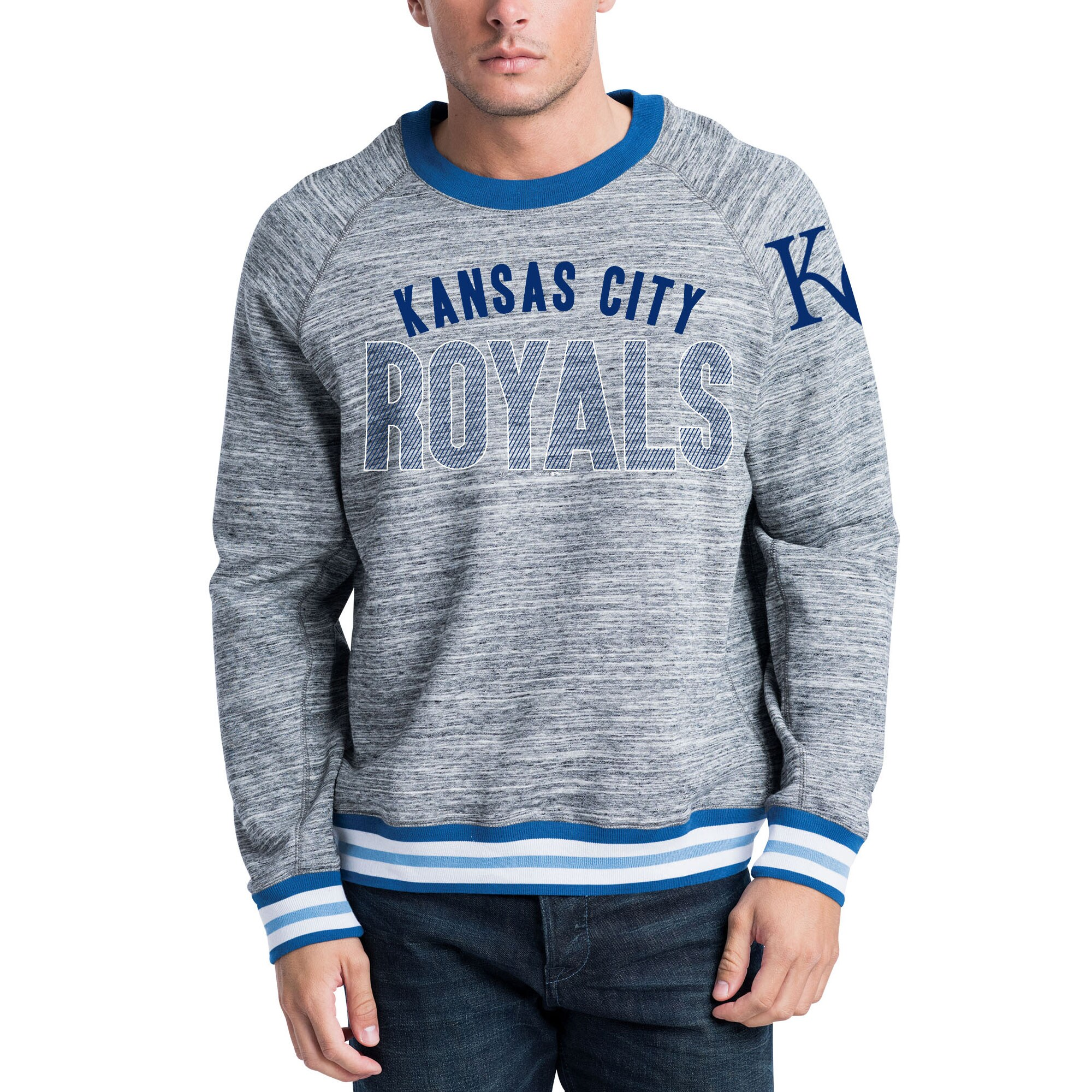 Kansas City Royals New Era French Terry Sweatshirt - Steel/Royal