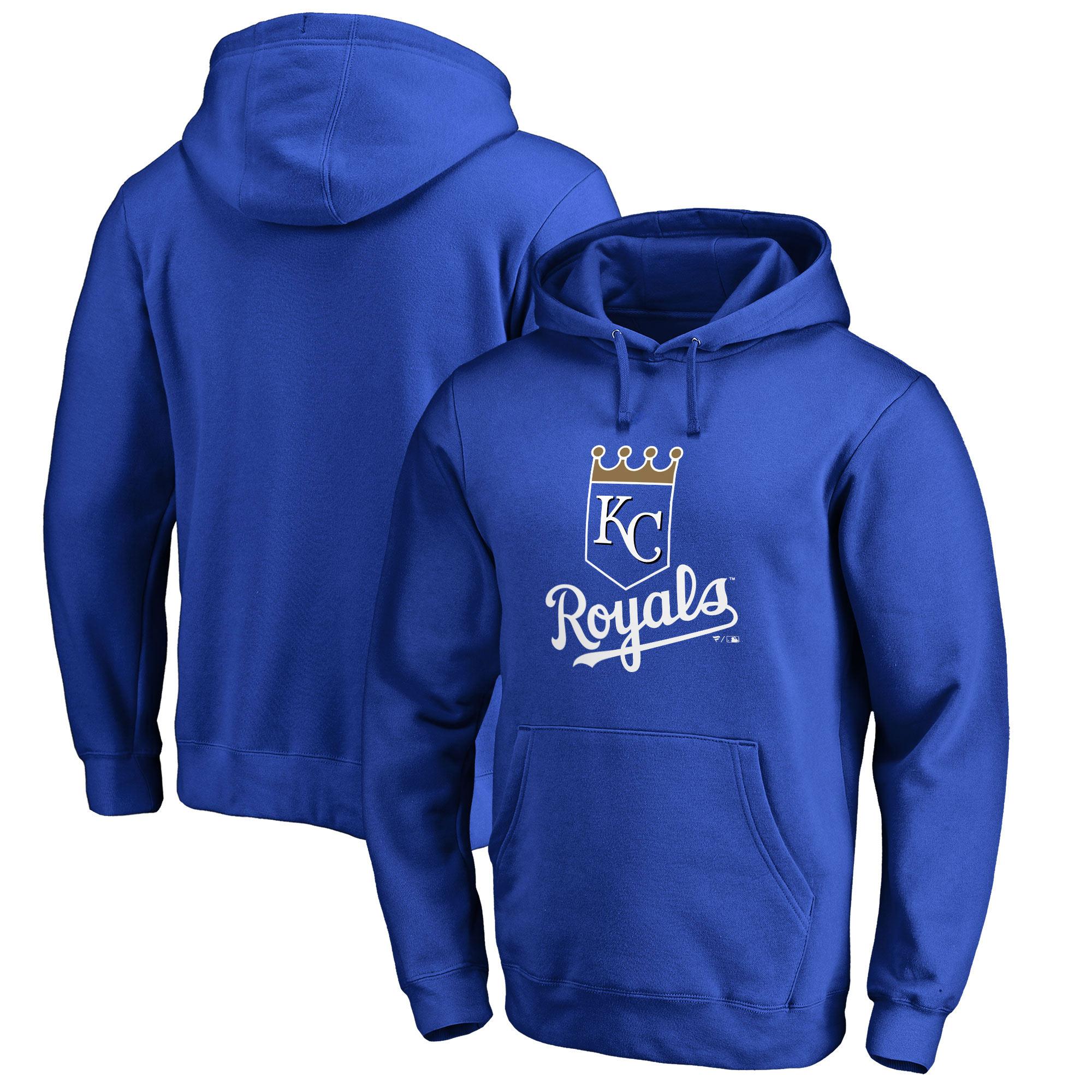 Kansas City Royals Fanatics Branded Primary Logo Pullover Hoodie - Royal