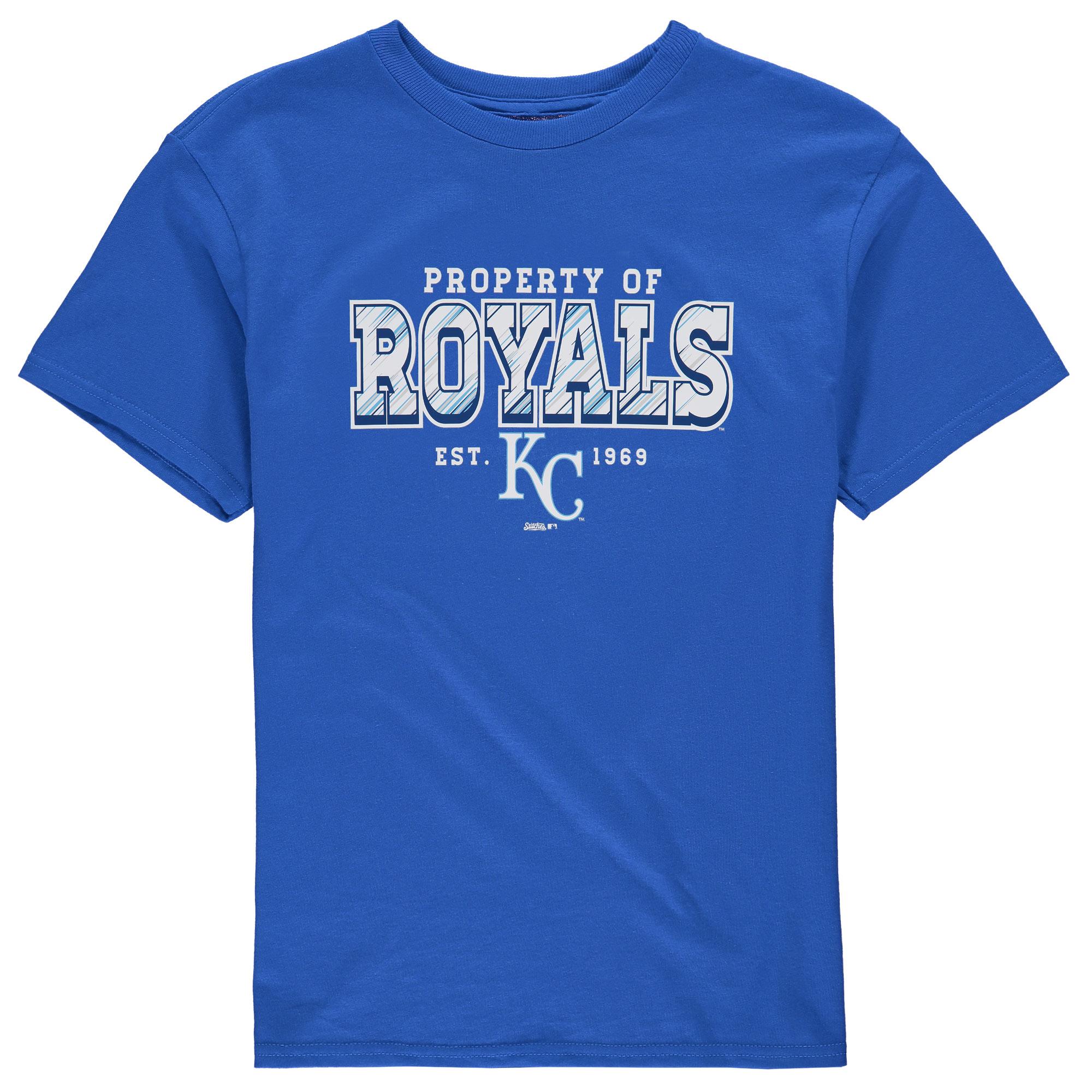 Kansas City Royals Stitches Youth Property Of Team T-Shirt - Royal