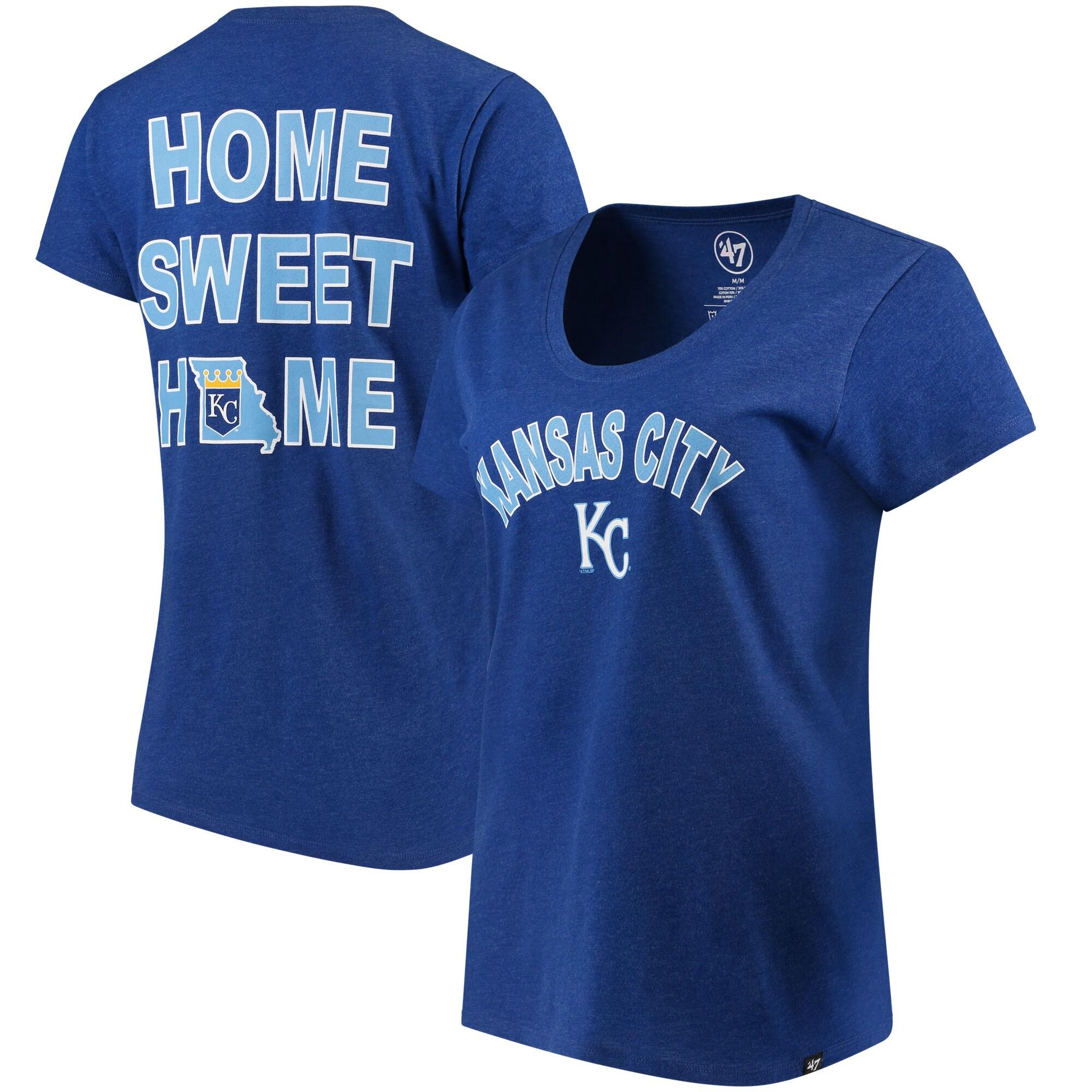 Kansas City Royals '47 Women's Club Scoop Neck T-Shirt - Royal