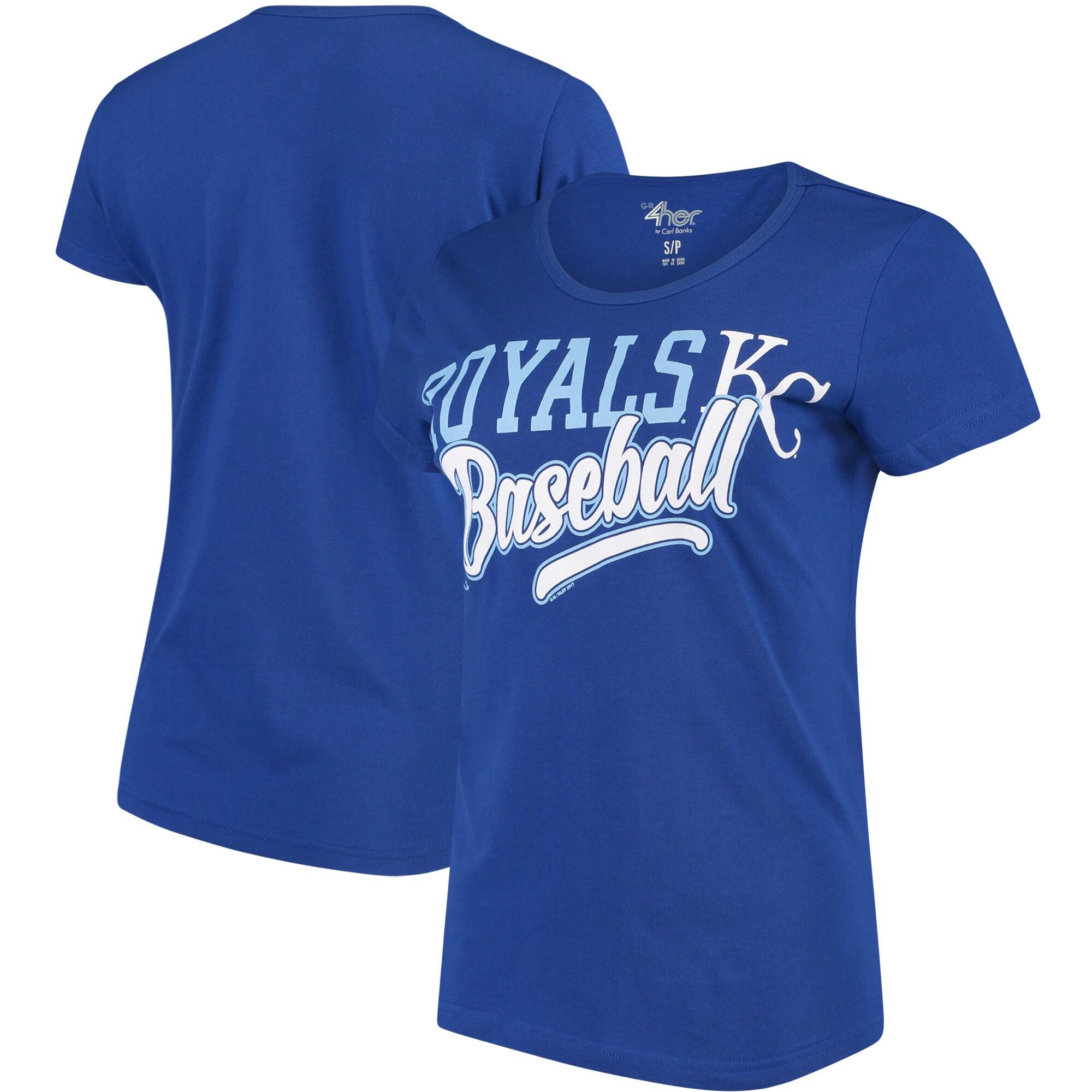 Kansas City Royals G-III 4Her by Carl Banks Women's Endzone Fashion T-Shirt - Royal
