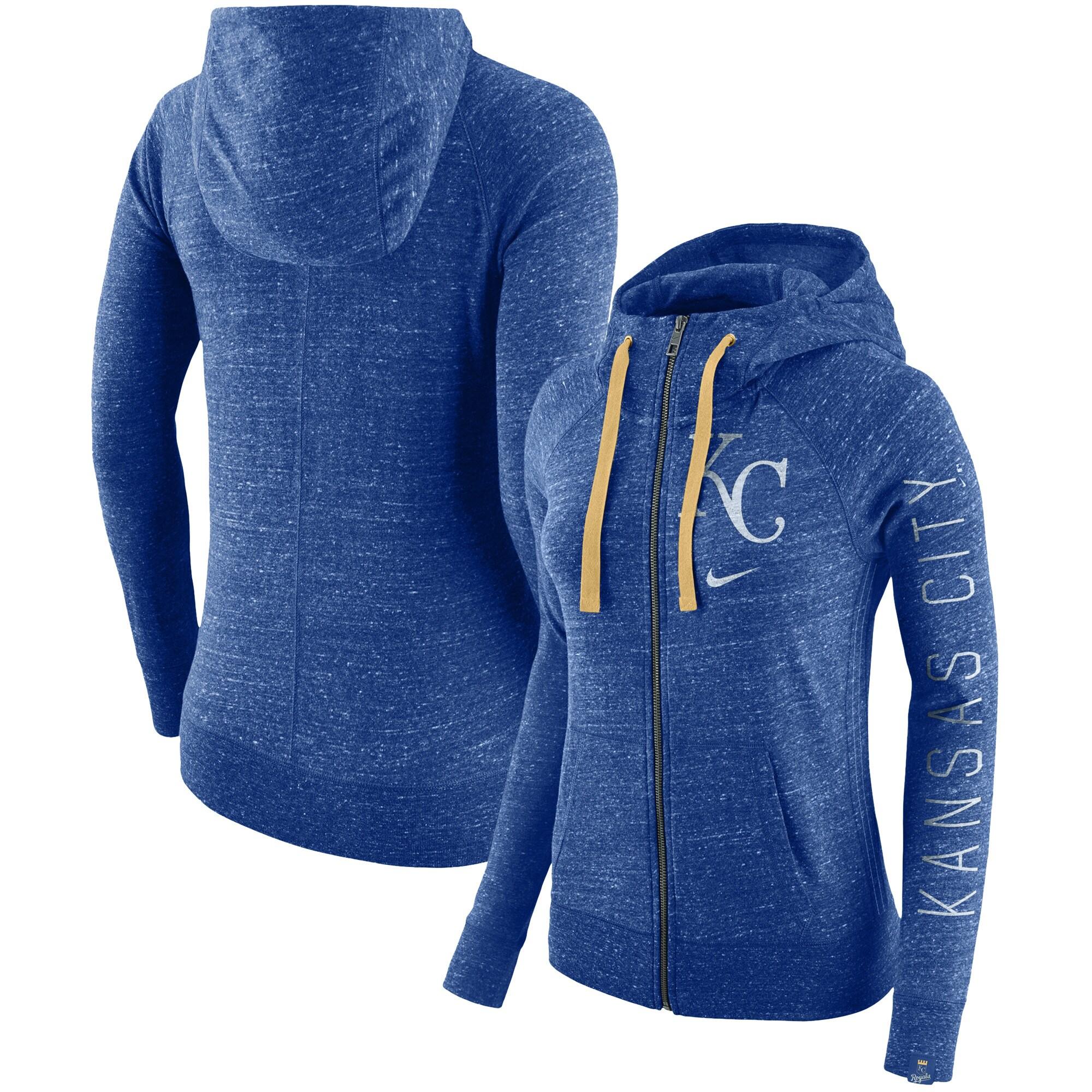 Kansas City Royals Nike Women's Vintage Full-Zip Hoodie - Royal