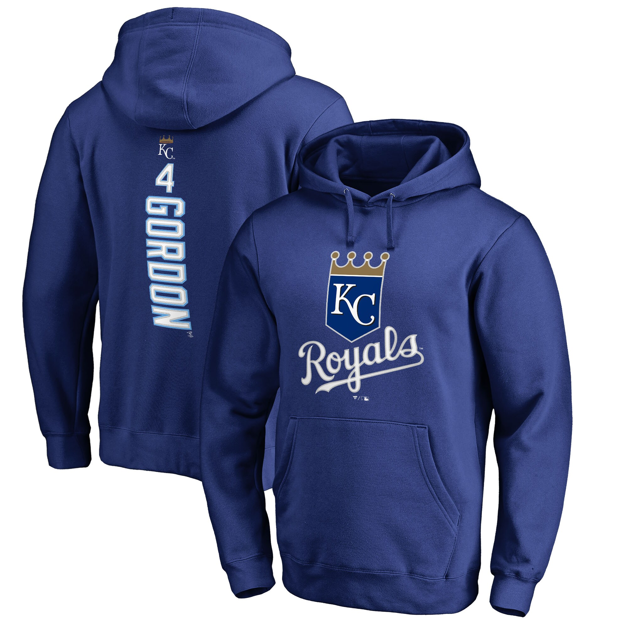 Alex Gordon Kansas City Royals Fanatics Branded Backer Pullover Hoodie - Royal