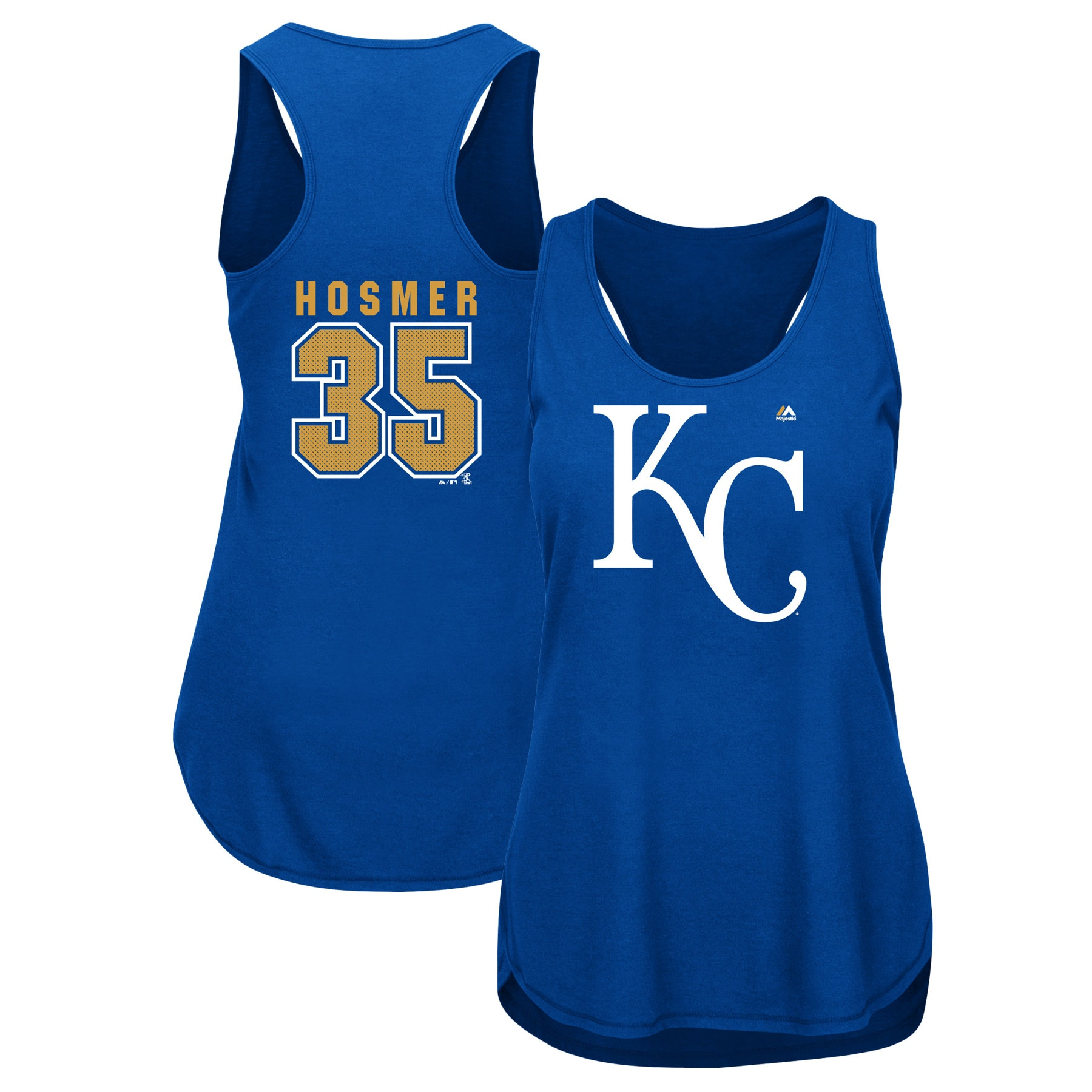 Eric Hosmer Kansas City Royals Majestic Women's Men of October Player Tank Top - Royal