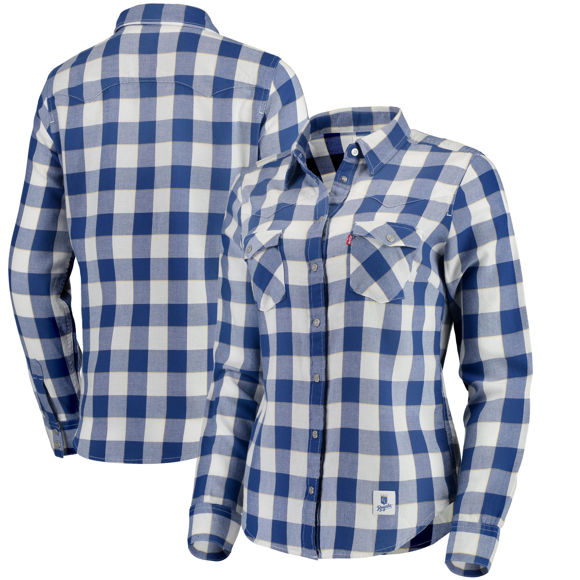 Kansas City Royals Levi's Women's Western Full-Snap Shirt - Royal