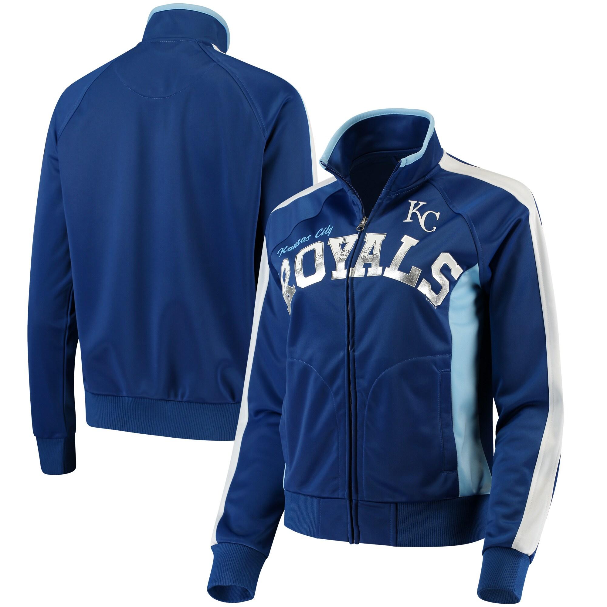 Kansas City Royals G-III Sports by Carl Banks Women's Breaking Ball Full-Zip Track Jacket - Royal