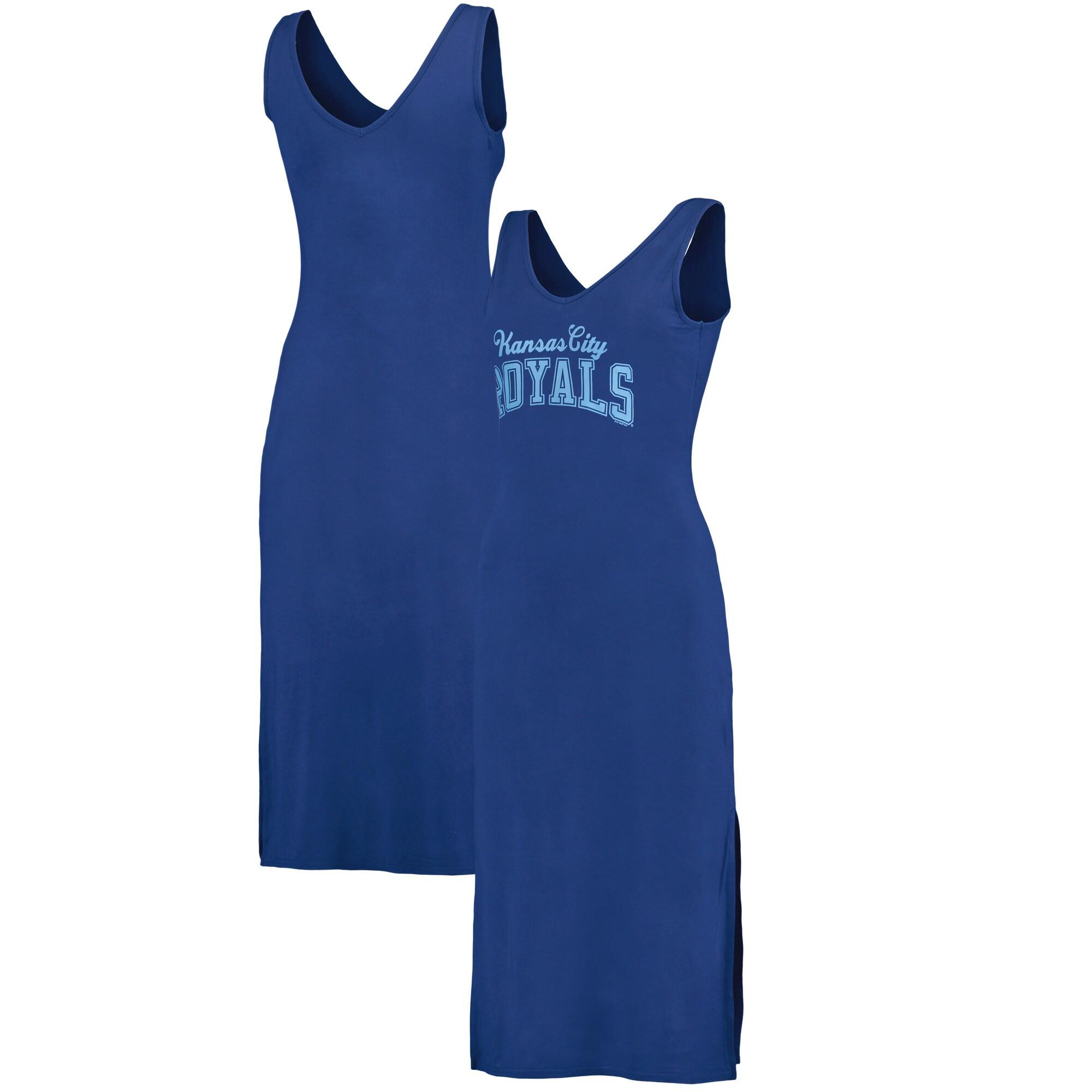 Kansas City Royals G-III 4Her by Carl Banks Women's Sideline Maxi Dress - Royal/Light Blue