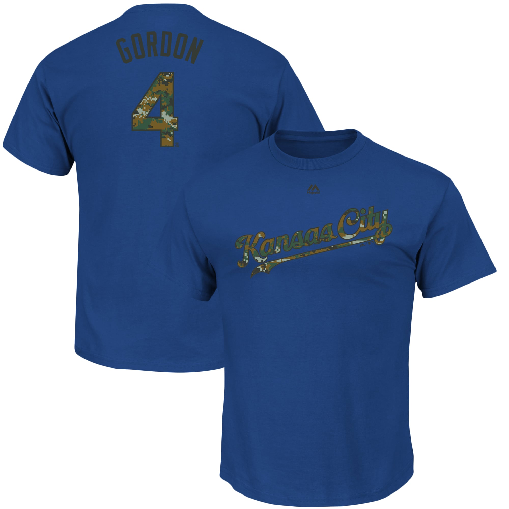 Alex Gordon Kansas City Royals Majestic Armed Forces Name & Number T-Shirt - Royal