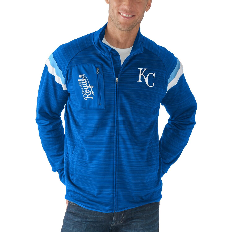 Kansas City Royals G-III Sports by Carl Banks Wild Card Full-Zip Track Jacket - Royal