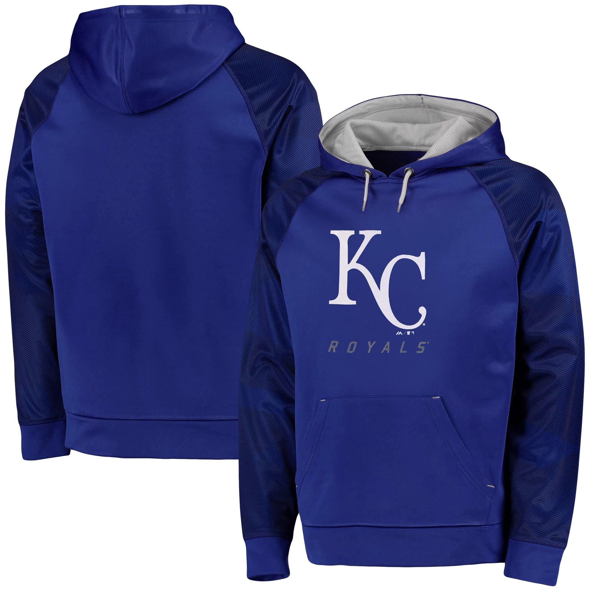 Kansas City Royals Majestic Big & Tall New Armour Performance Hoodie - Royal